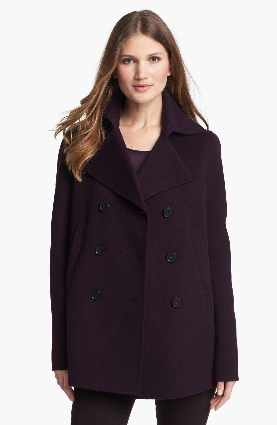 Main Image - Vince Wool Blend Peacoat
