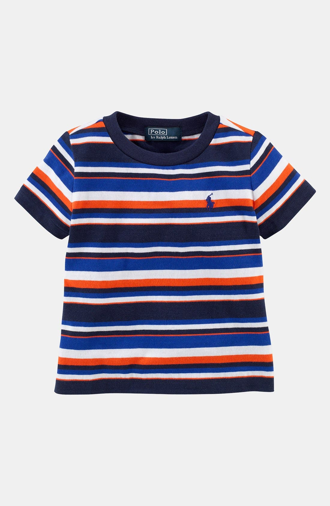 Alternate Image 1 Selected - Ralph Lauren Stripe T-Shirt (Baby Boys)