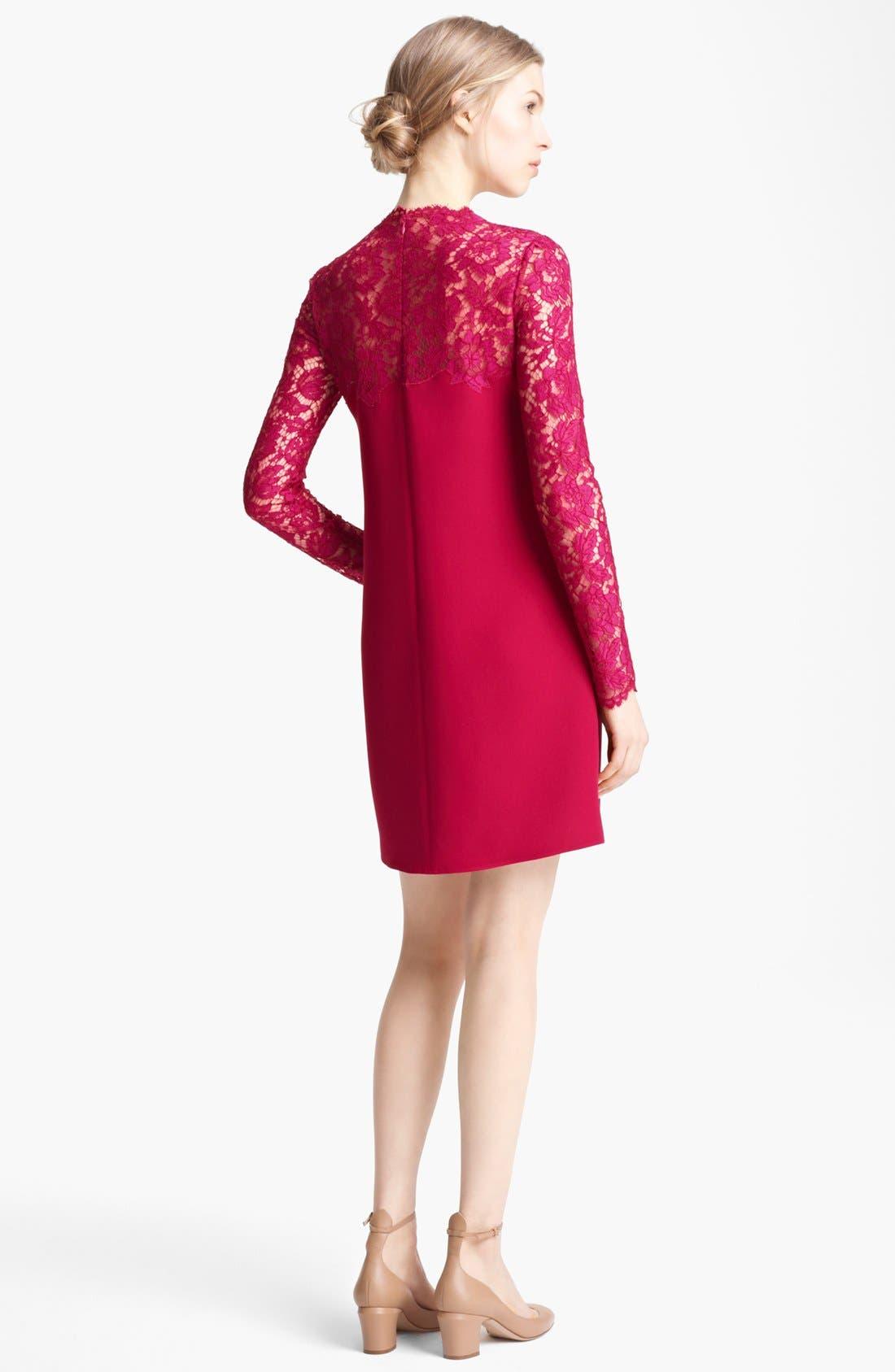 Alternate Image 3  - Valentino Lace Yoke Cady Dress