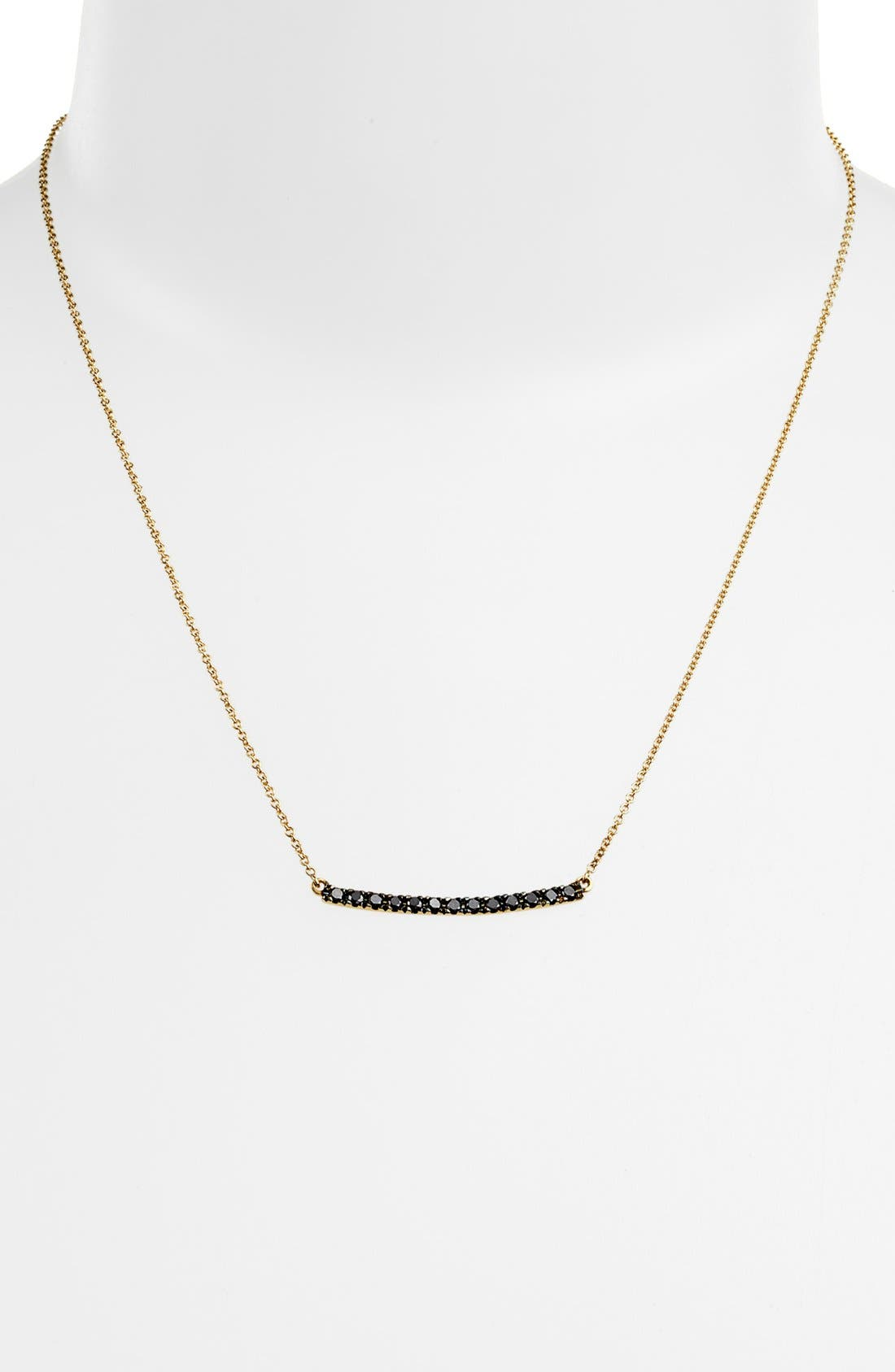 Alternate Image 2  - Bony Levy 'Stick' Pavé Black Diamond Bar Necklace (Nordstrom Exclusive)