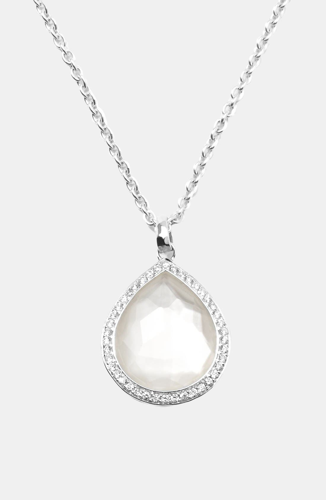 Alternate Image 1 Selected - Ippolita 'Stella' Small Teardrop Pendant Necklace