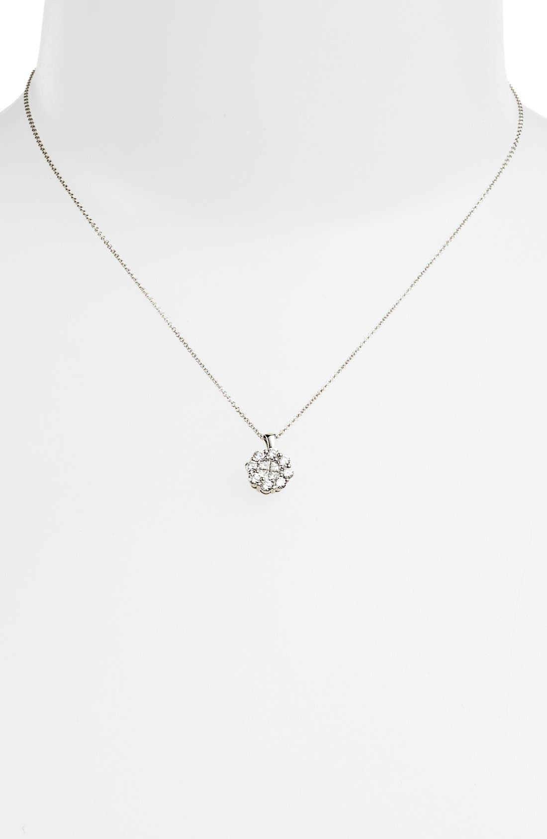 Alternate Image 2  - Bony Levy Flower Diamond Pendant Necklace (Nordstrom Exclusive)