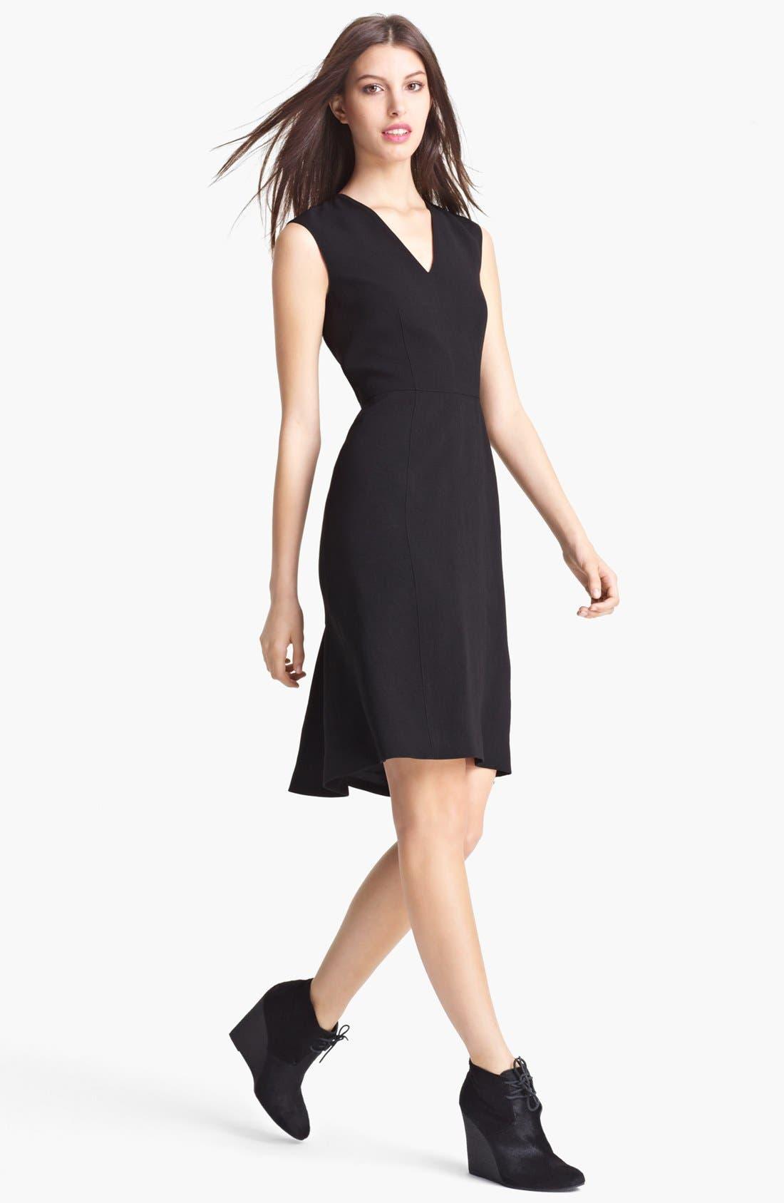 Alternate Image 1 Selected - Burberry London Flutter Hem Crepe Dress