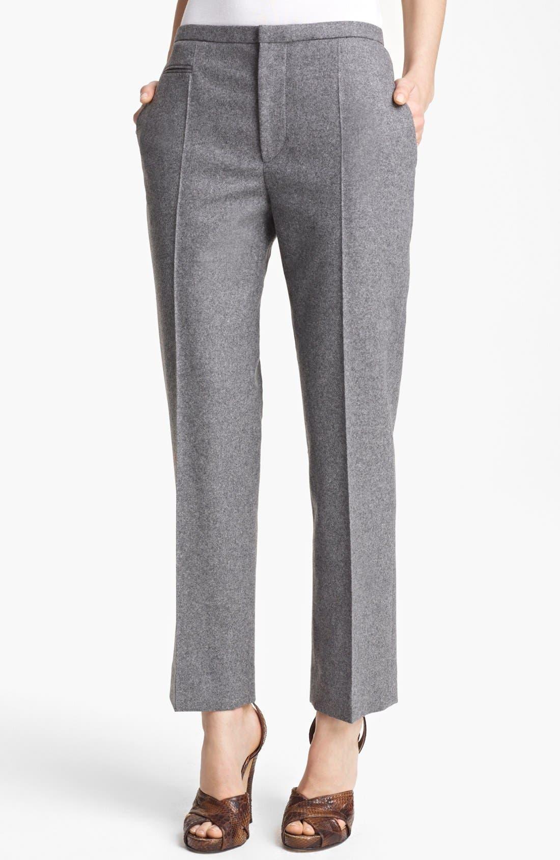 Alternate Image 1 Selected - MARC JACOBS Wool Flannel Crop Pants