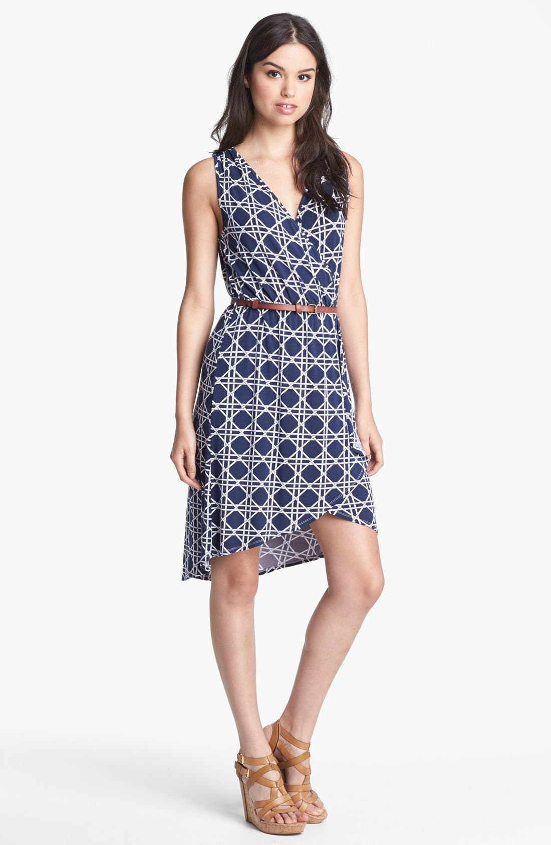 Main Image - Tart Print Jersey Faux Wrap Dress