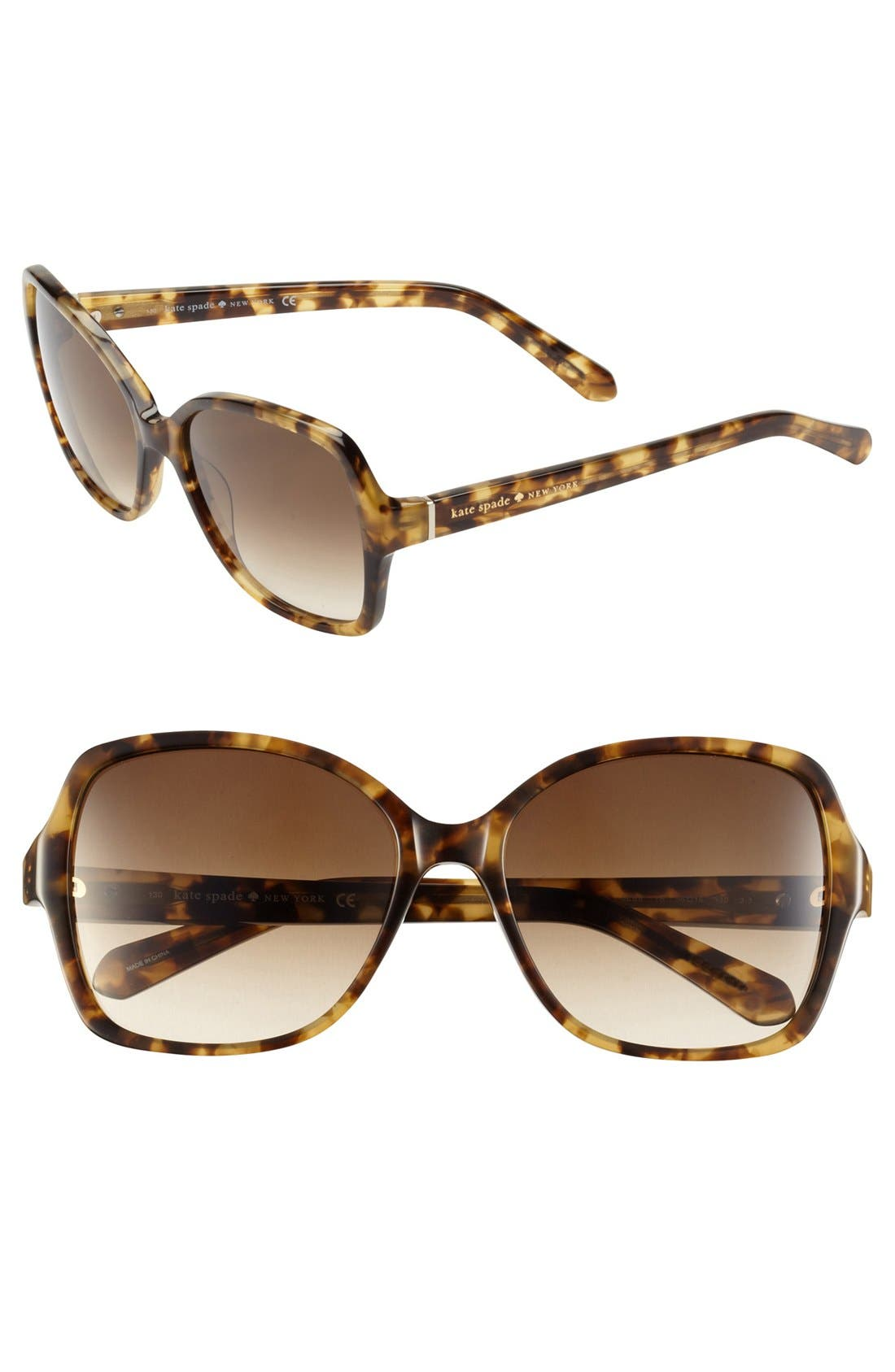 Alternate Image 1 Selected - kate spade new york 'cambria' 56mm sunglasses