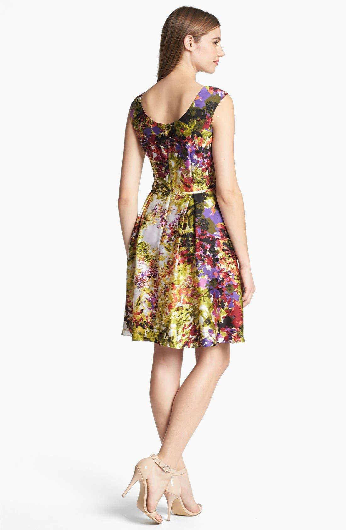 Alternate Image 2  - Donna Ricco Print Fit & Flare Dress