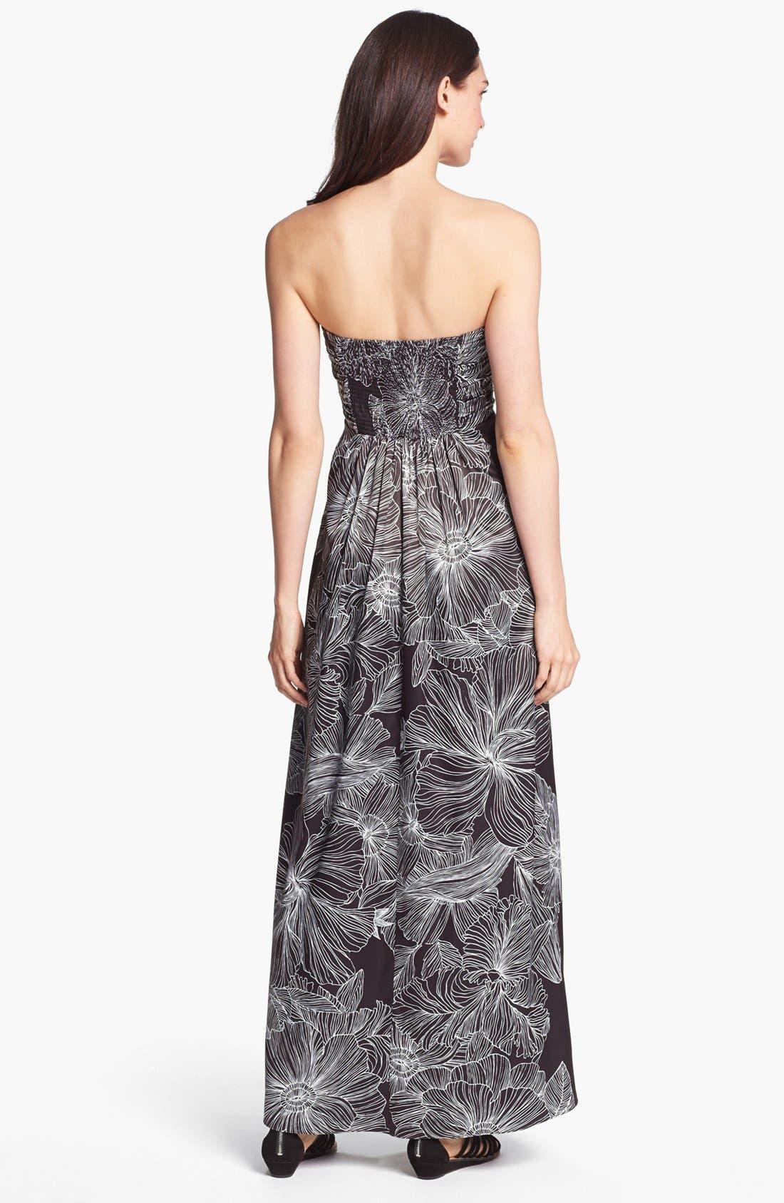 Alternate Image 2  - Jessica Simpson Strapless Print Maxi Dress
