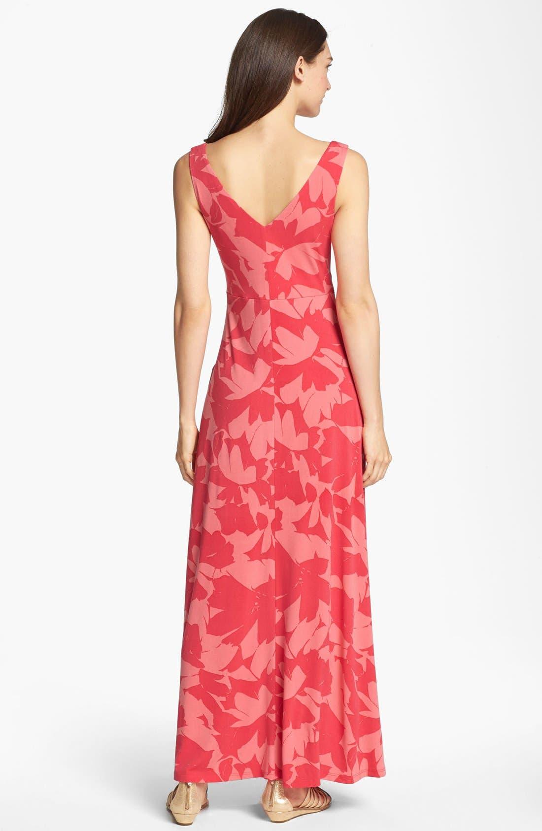 Alternate Image 2  - Isaac Mizrahi New York Print Jersey Maxi Dress