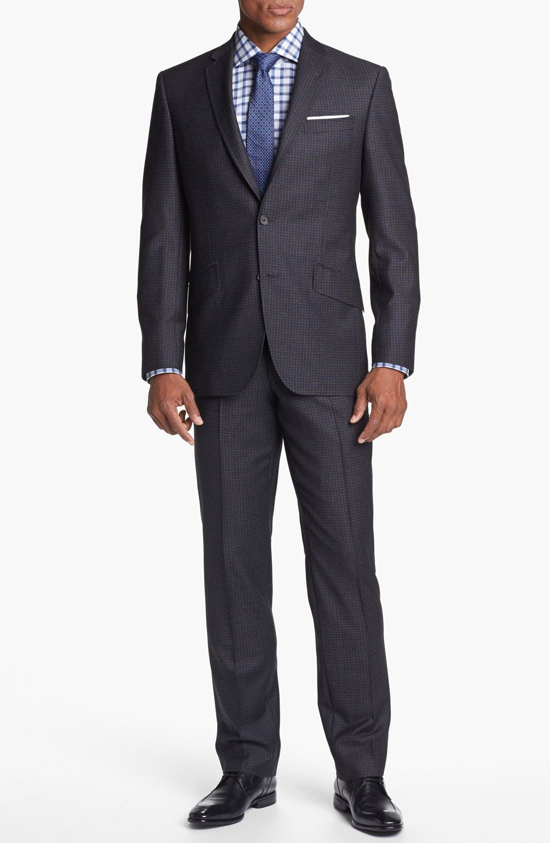 Main Image - Ted Baker London 'Jones' Trim Fit Check Suit (Online Only)