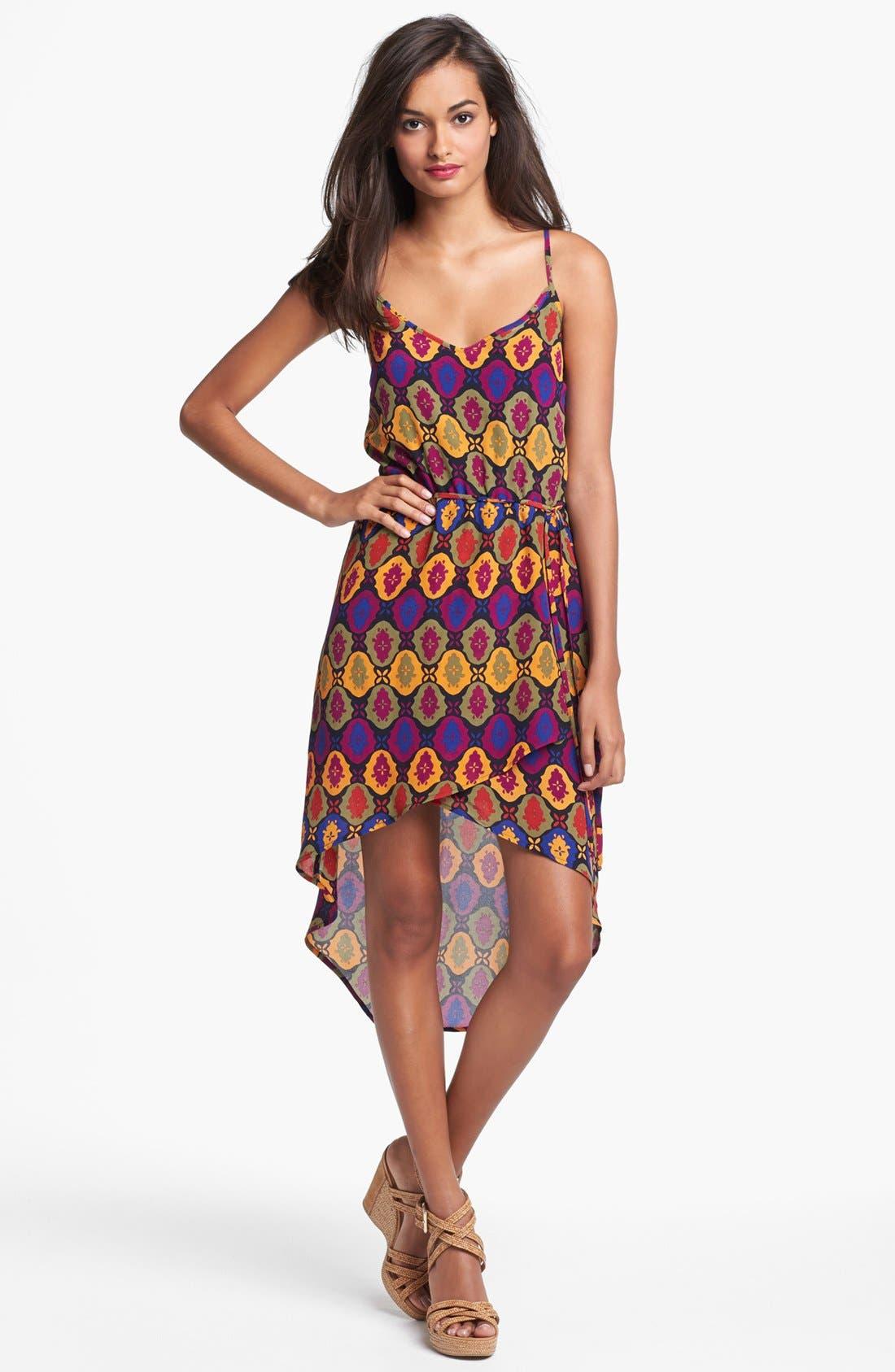 Alternate Image 1 Selected - VELVET HEART 'Mila' Print Silk High/Low Dress