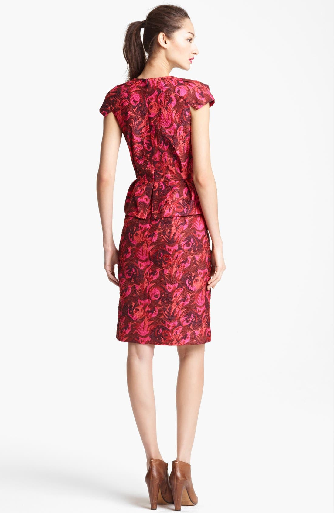 Alternate Image 2  - Lida Baday Print Cloqué Dress