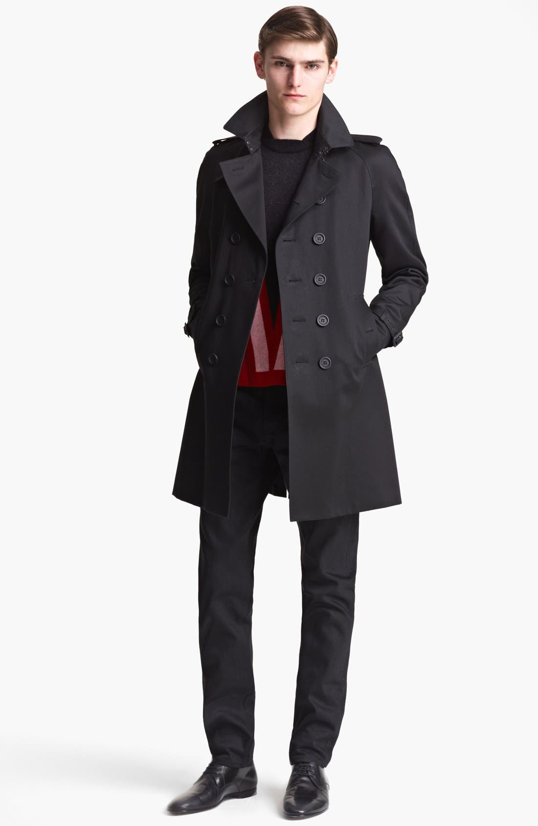 Alternate Image 3  - Burberry Prorsum Double Breasted Trench Coat