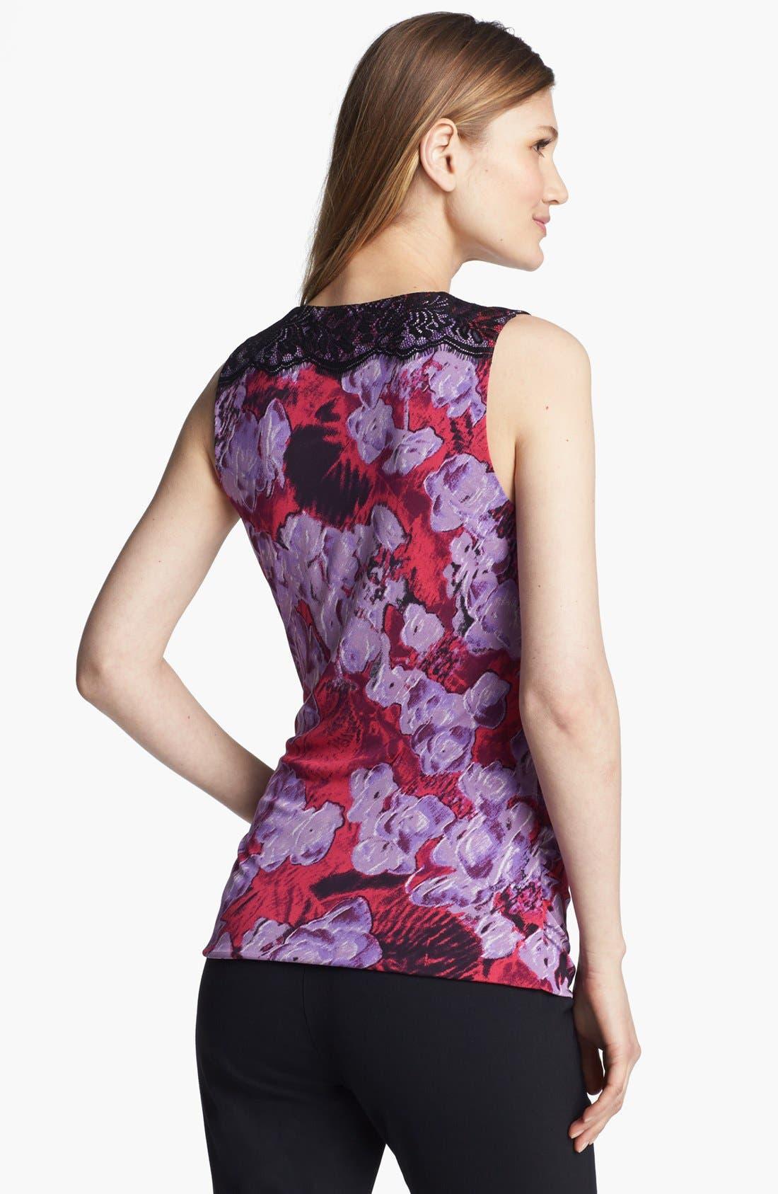 Alternate Image 2  - Classiques Entier® Lace Trim Silk Blend Jersey Top