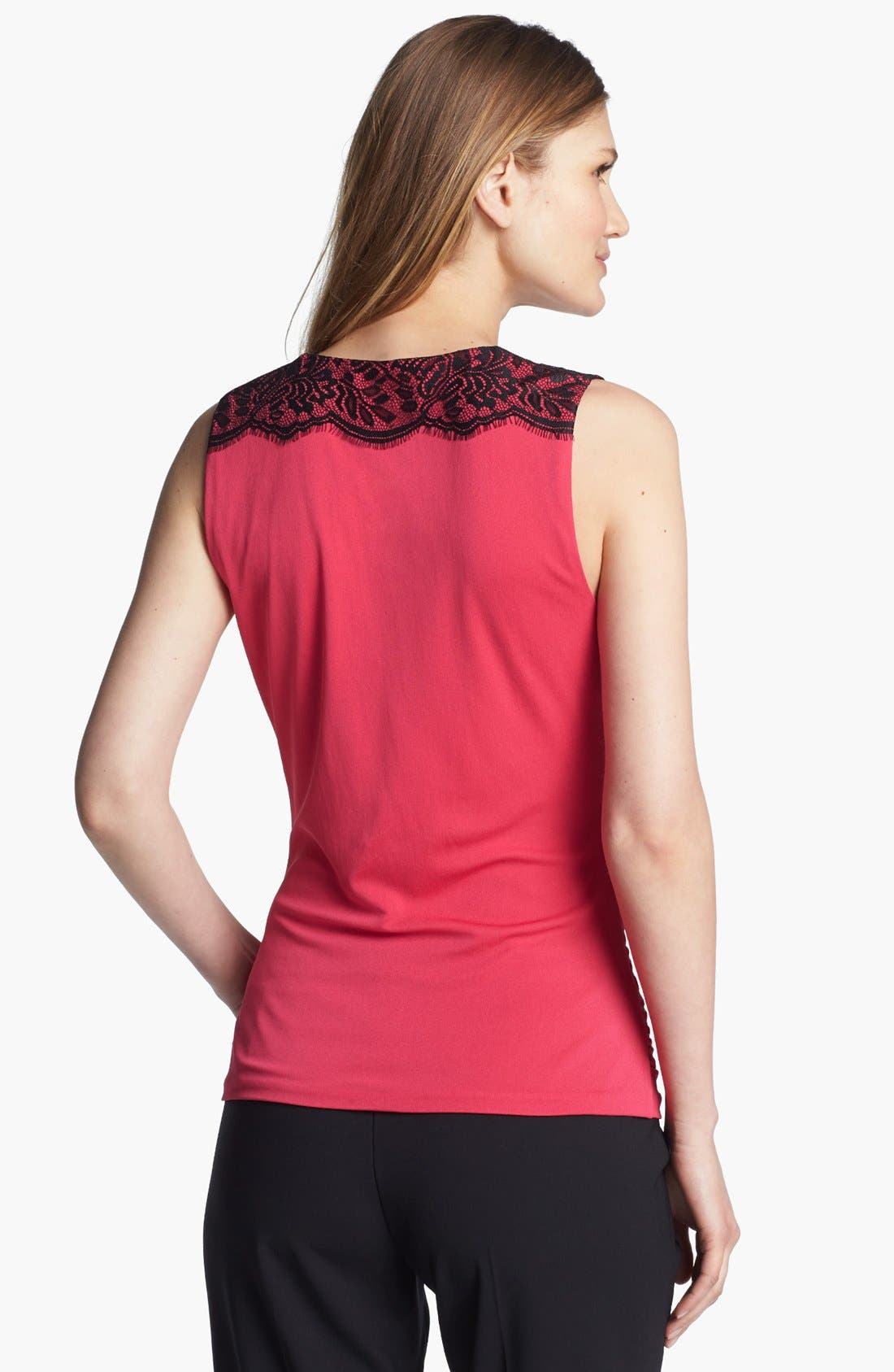 Alternate Image 2  - Classiques Entier® Lace Trim Drape Neck Jersey Top