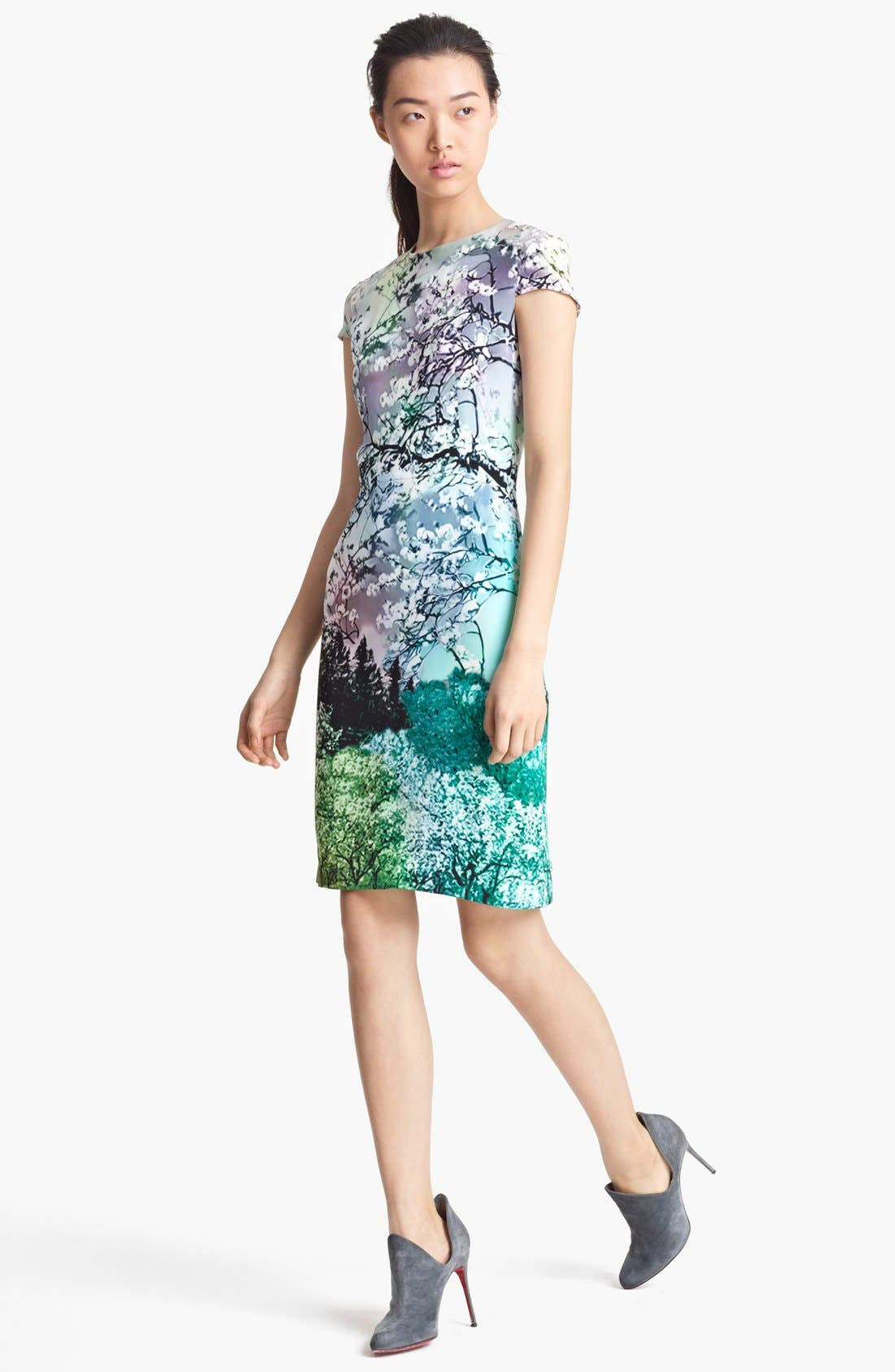 Alternate Image 1 Selected - Mary Katrantzou Print Silk Dress