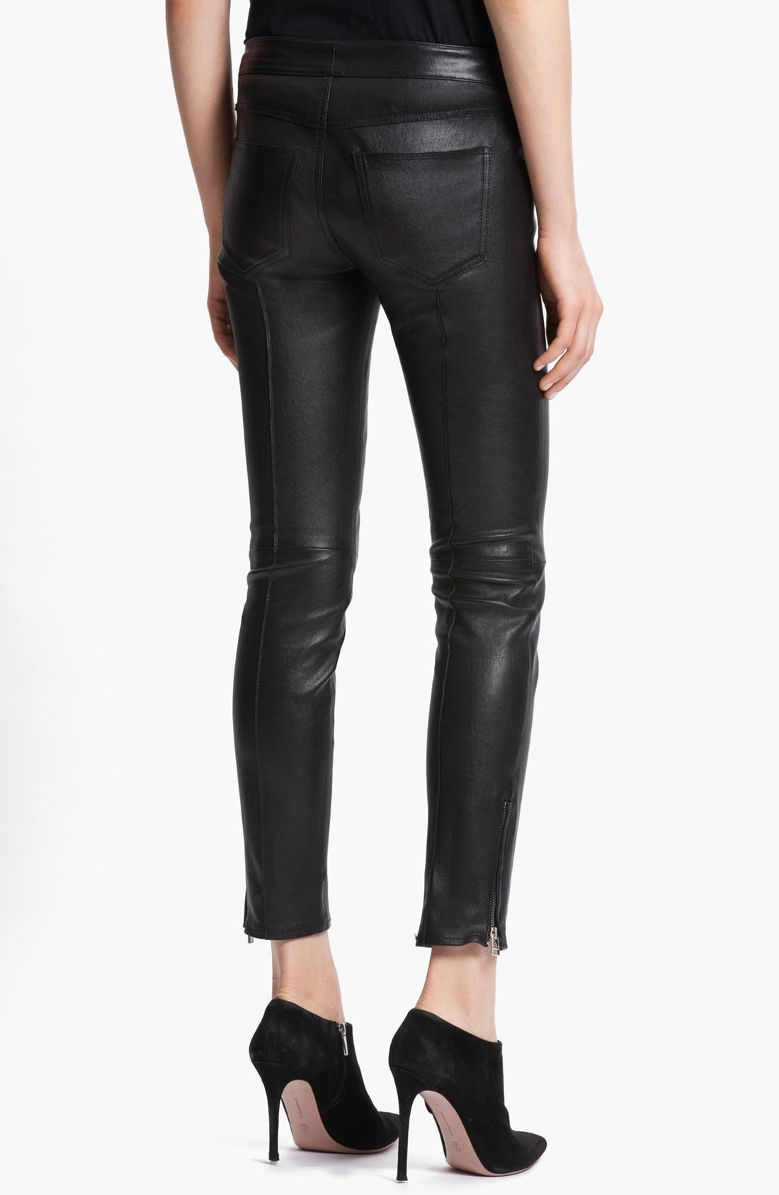 Alternate Image 2  - Faith Connexion Stretch Leather Leggings