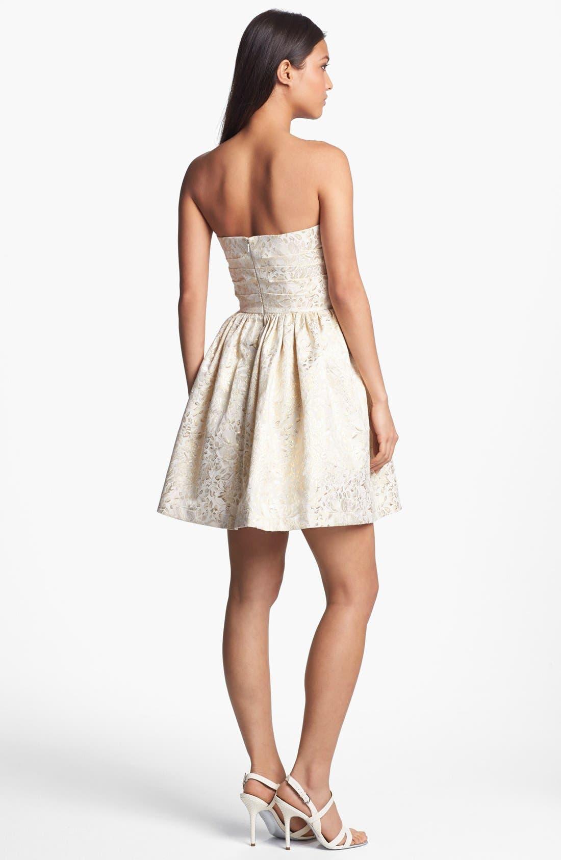 Alternate Image 2  - Wyton Metallic Brocade Fit & Flare Dress