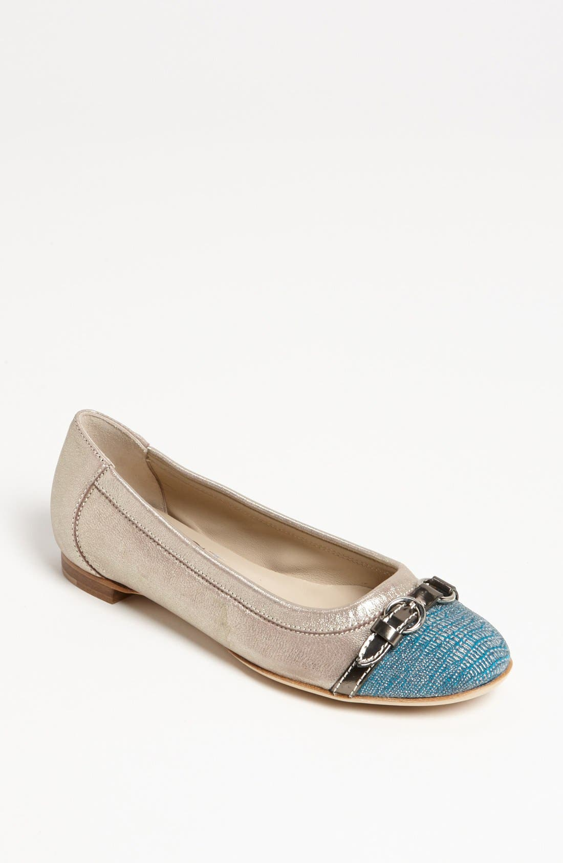 Alternate Image 1 Selected - Attilio Giusti Leombruni 'Diamond' Toe Cap Ballet Flat