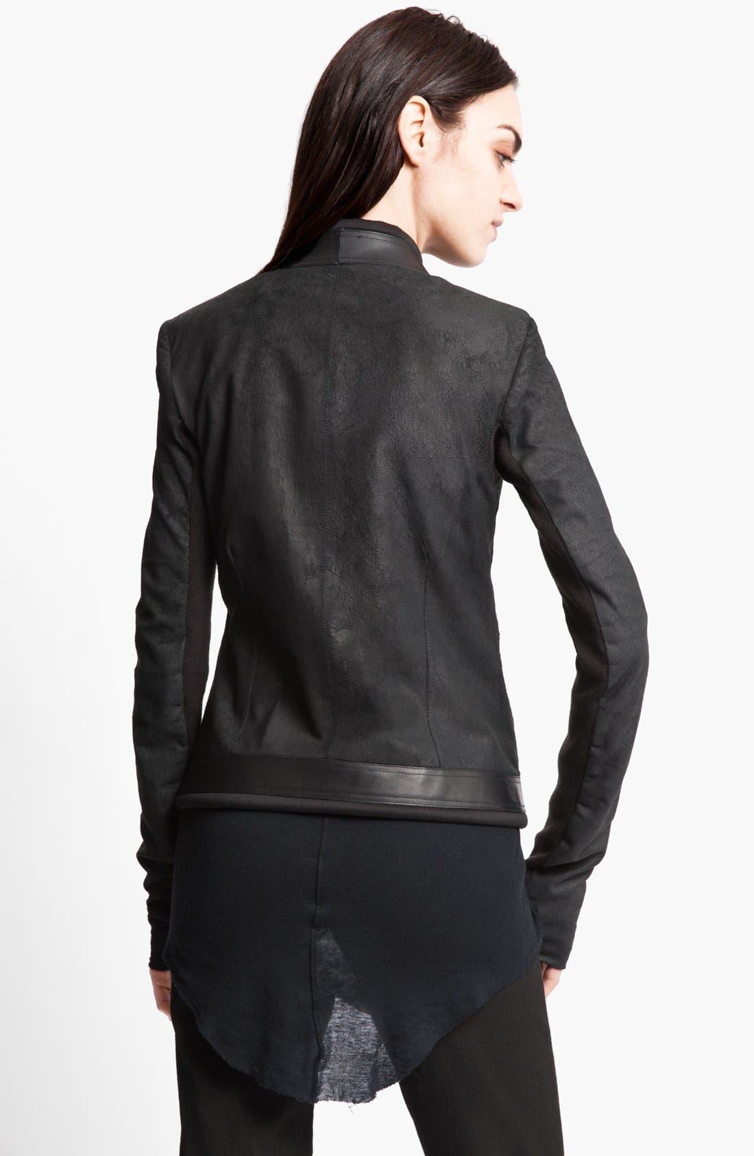 Alternate Image 2  - Rick Owens Blistered Lambskin Leather Jacket