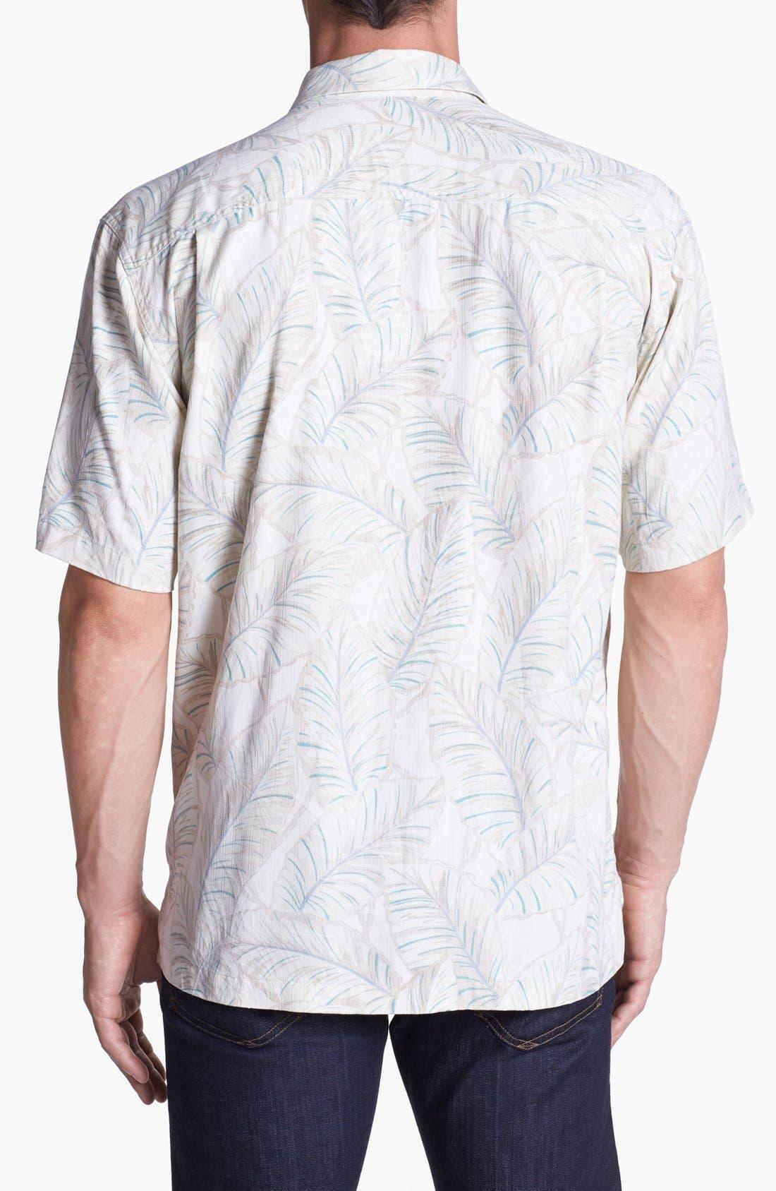 Alternate Image 2  - Tommy Bahama 'Leaves of Arabia' Silk Campshirt