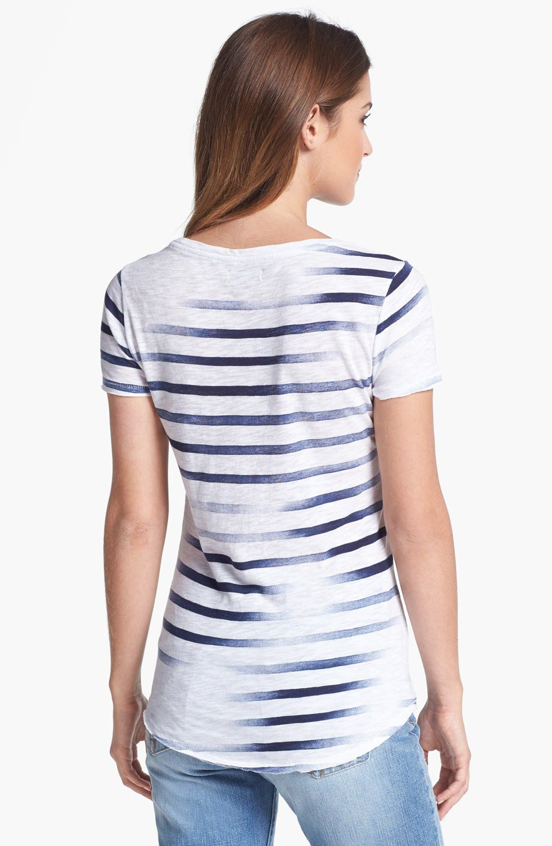 Alternate Image 2  - Lucky Brand 'Kendra' Paisley Graphic Stripe Tee