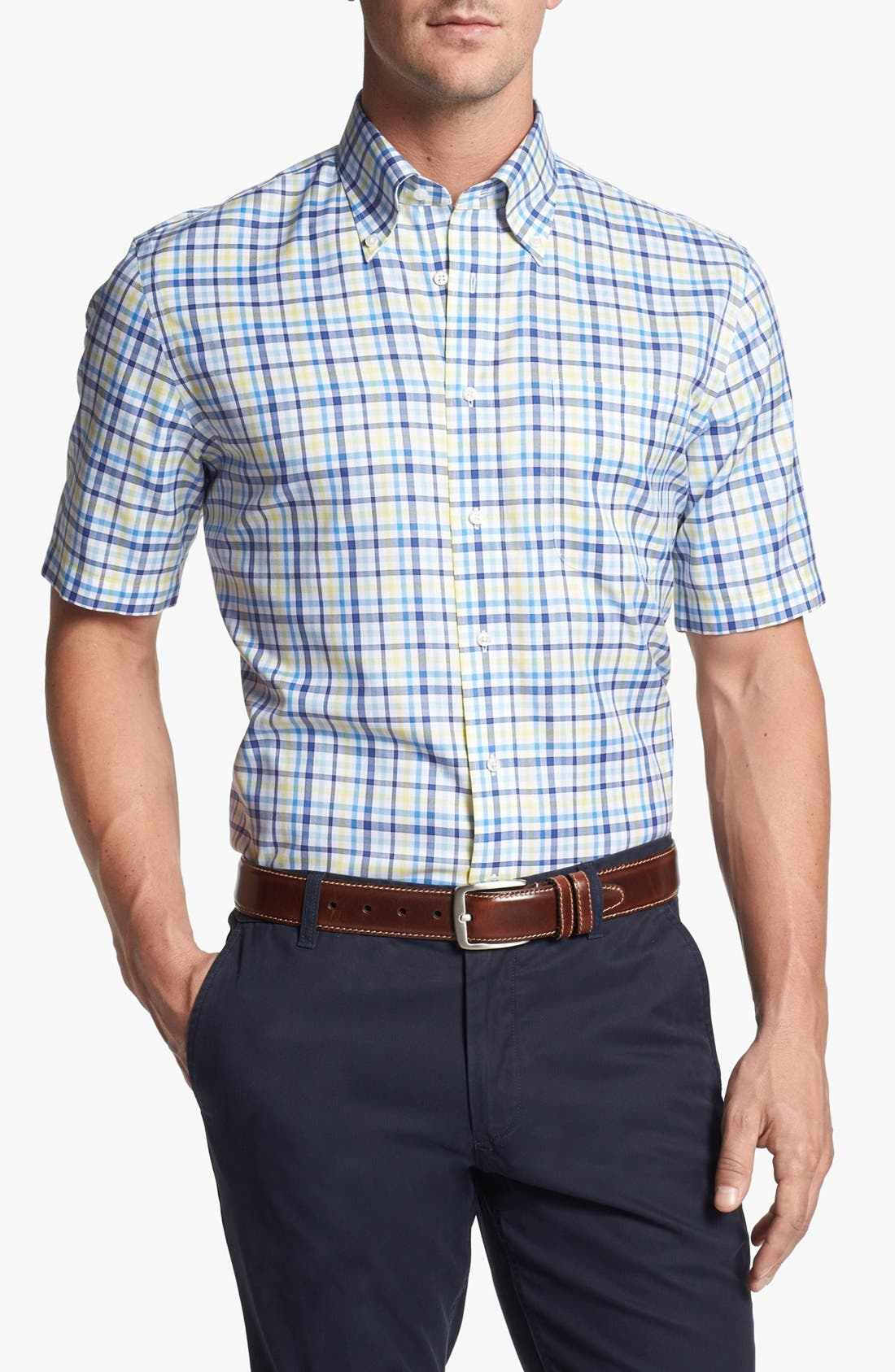 Main Image - Nordstrom Smartcare™ Traditional Fit Short Sleeve Dress Shirt