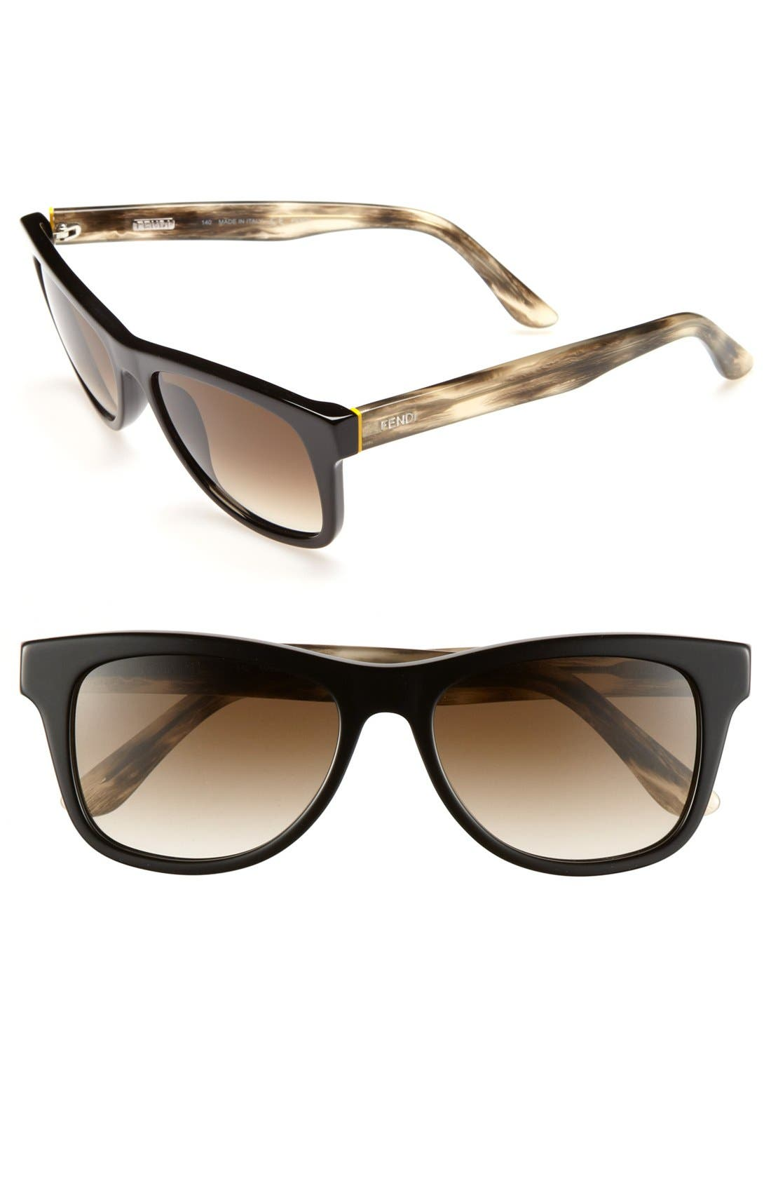 Alternate Image 1 Selected - Fendi 53mm Retro Sunglasses