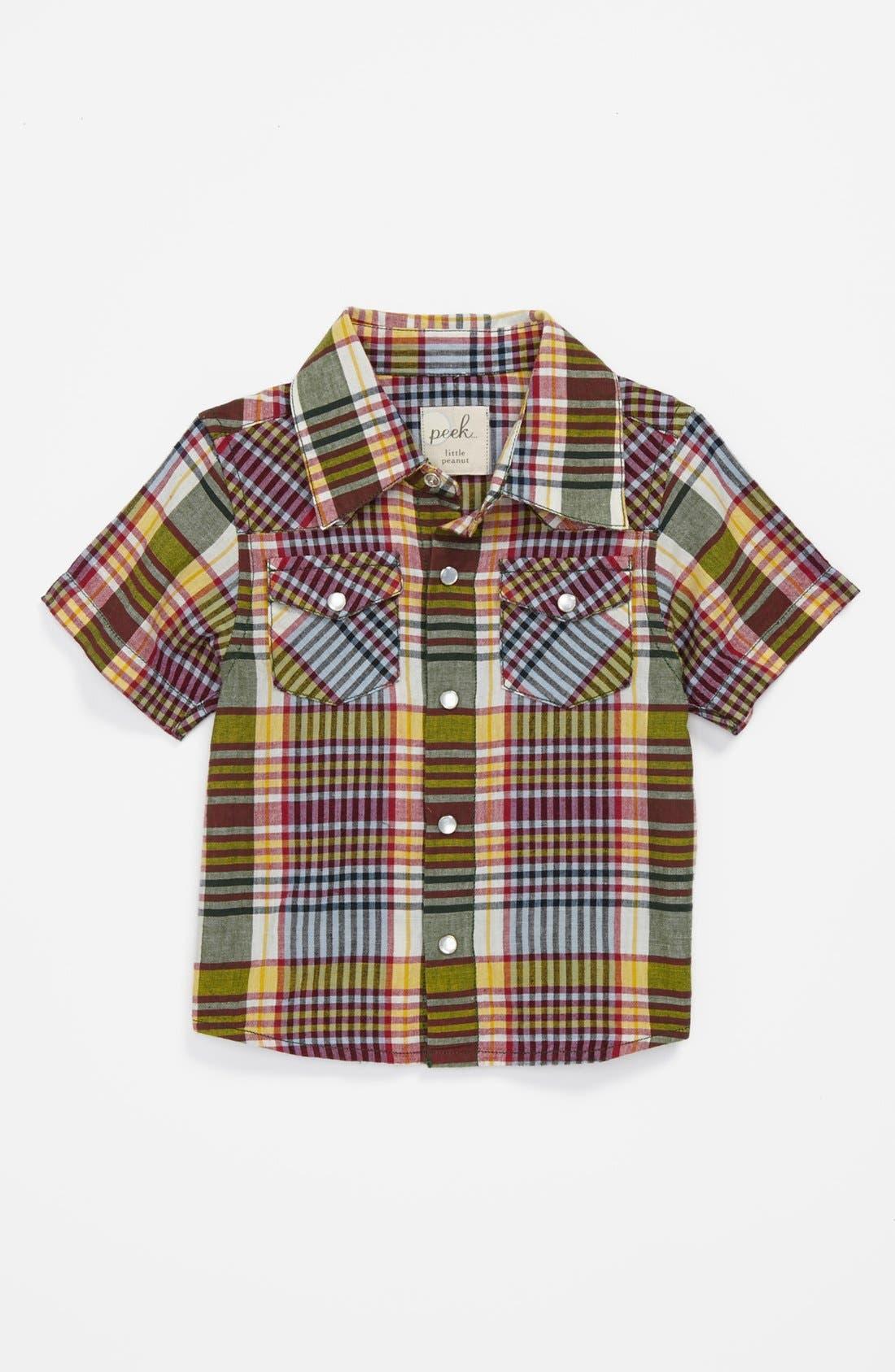 Alternate Image 1 Selected - Peek 'Wyatt' Sport Shirt (Baby Boys)