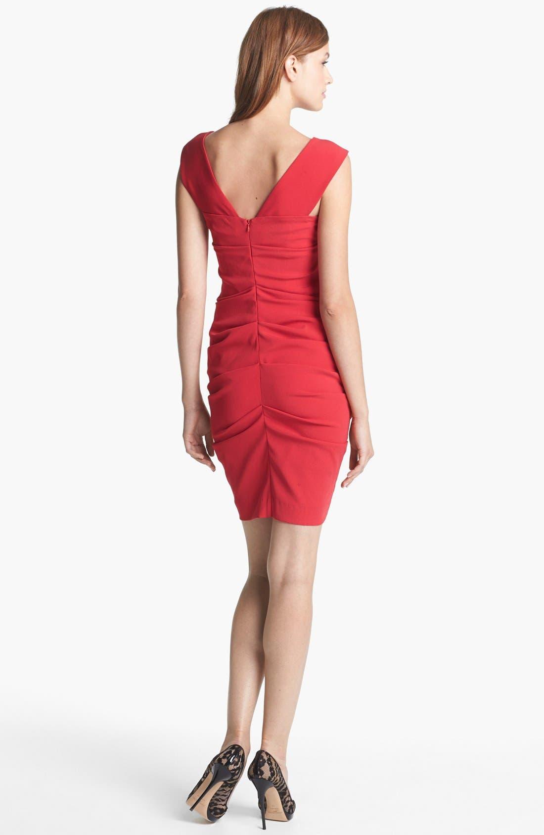 Alternate Image 2  - Nicole Miller Ruched Sheath Dress