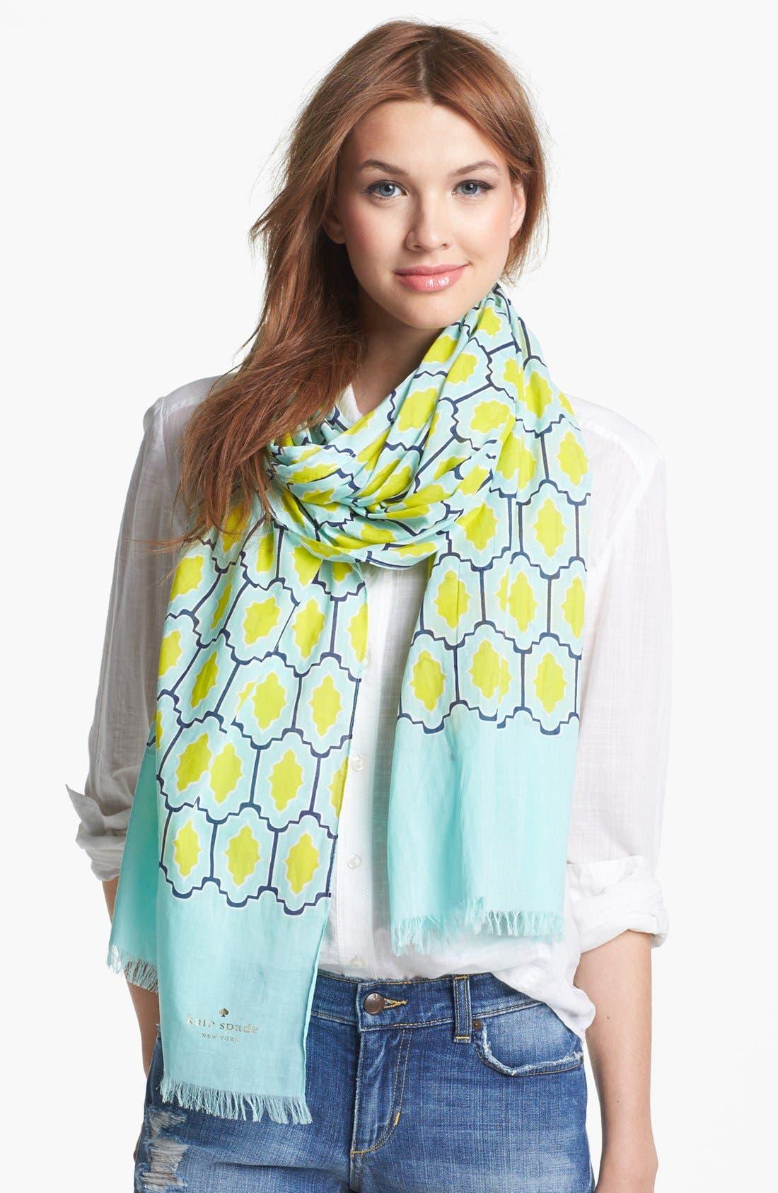 Alternate Image 1 Selected - kate spade new york 'tiles' scarf