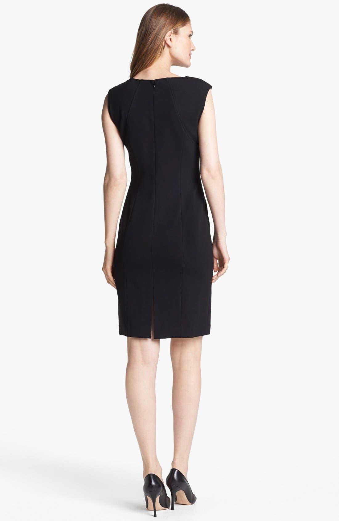 Alternate Image 2  - Lafayette 148 New York Lace Front Punto Milano Dress