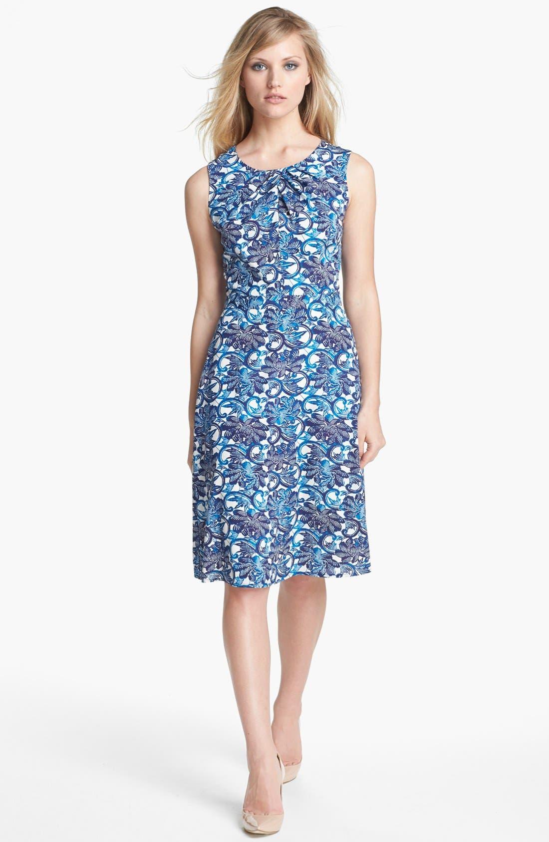 Main Image - Tory Burch 'Maxine' Stretch Silk A-Line Dress