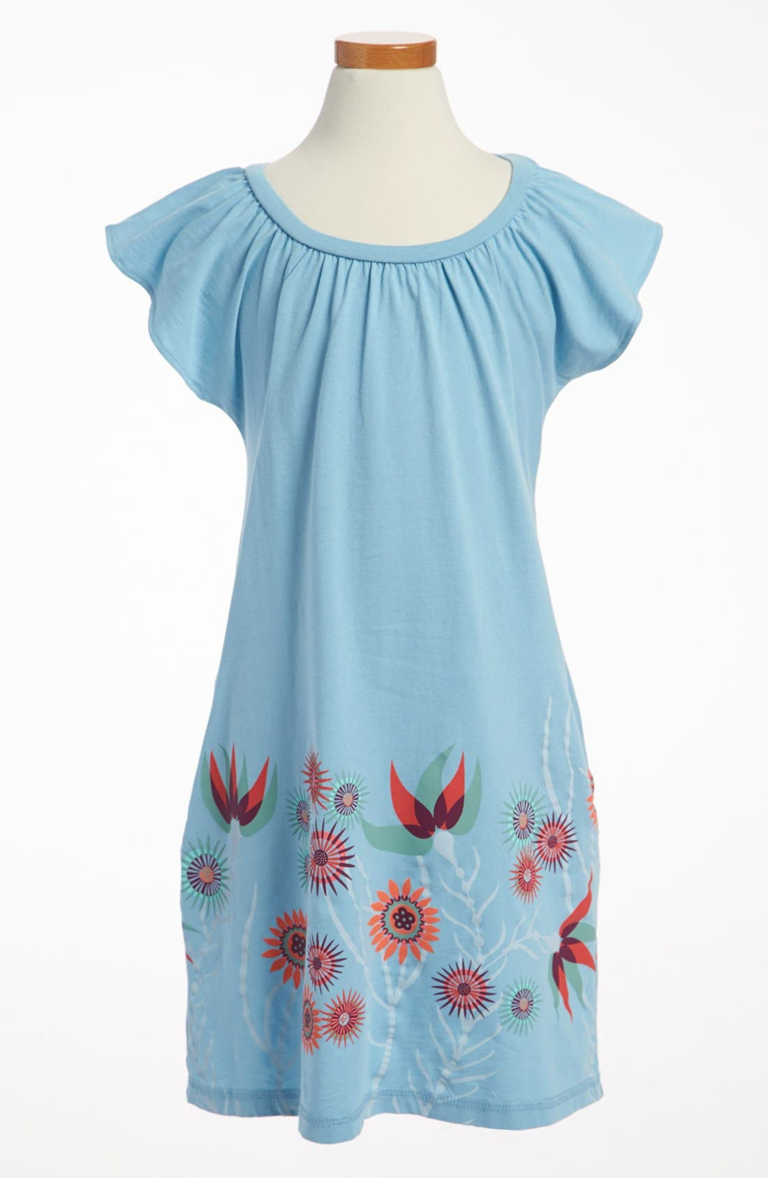 Alternate Image 1 Selected - Tea Collection 'Anemone Garden' Minidress (Little Girls & Big Girls)
