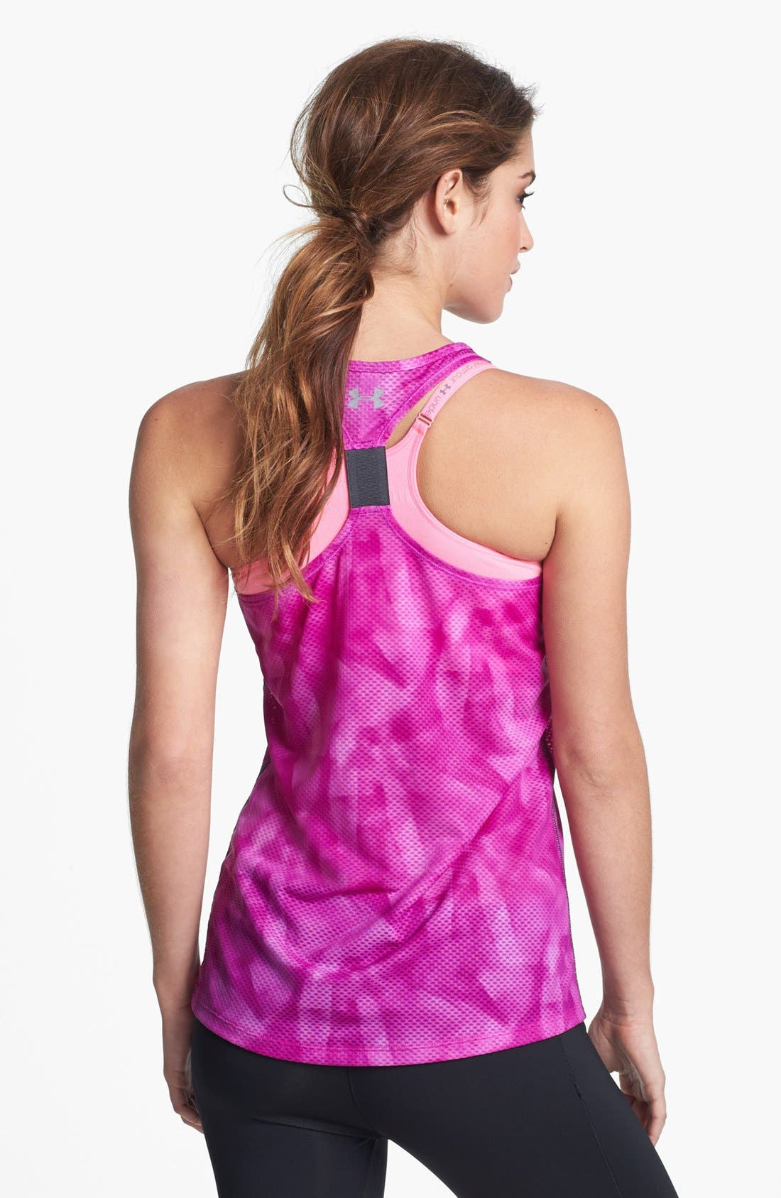 Alternate Image 2  - Under Armour 'Fly By' Print Mesh Tank