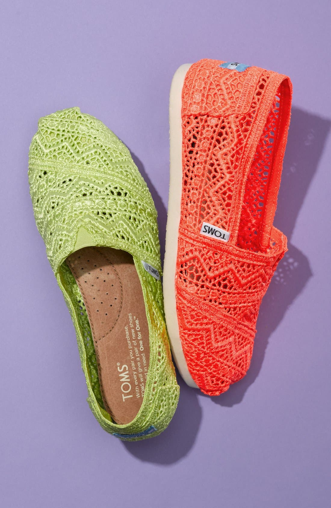 Alternate Image 6  - TOMS 'Classic - Neon' Crochet Slip-On (Women)