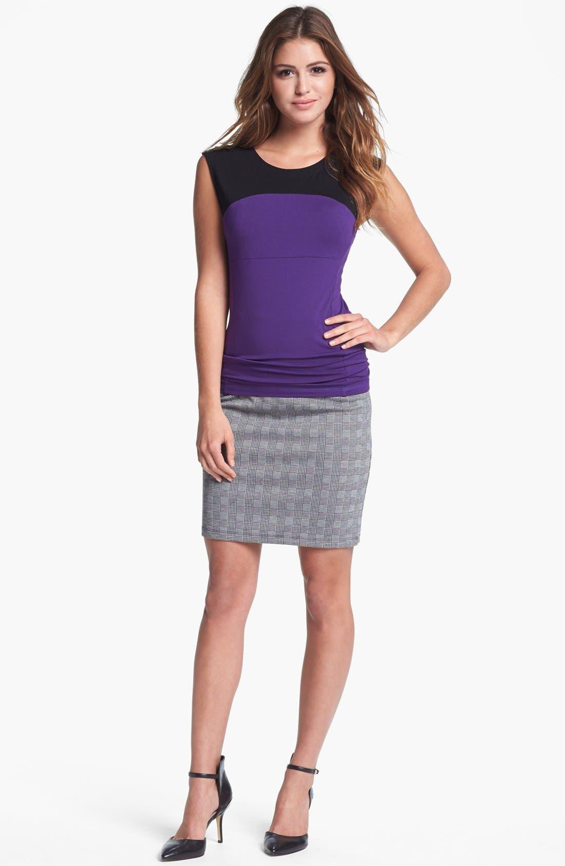 Alternate Image 6  - Vince Camuto Side Zip Glen Plaid Pencil Skirt (Nordstrom Exclusive)