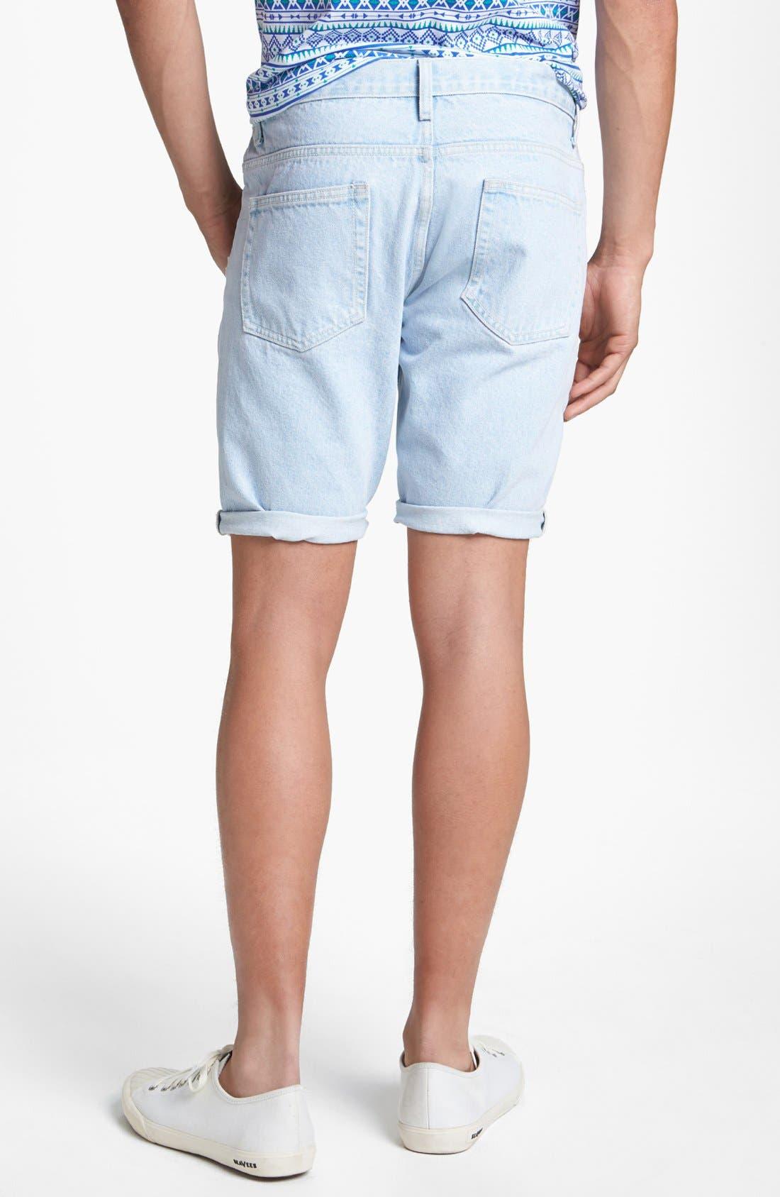 Alternate Image 2  - Topman Skinny Denim Shorts