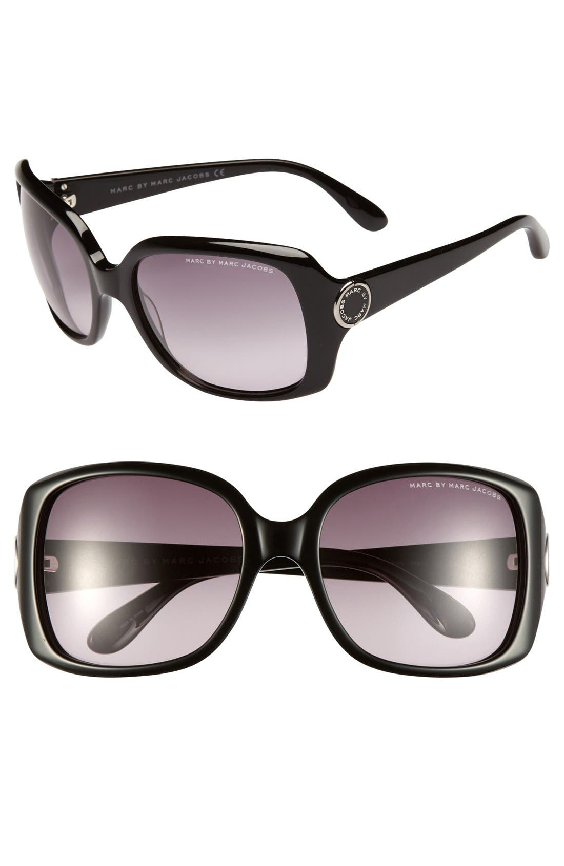 Main Image - MARC BY MARC JACOBS 58mm Oversized Sunglasses