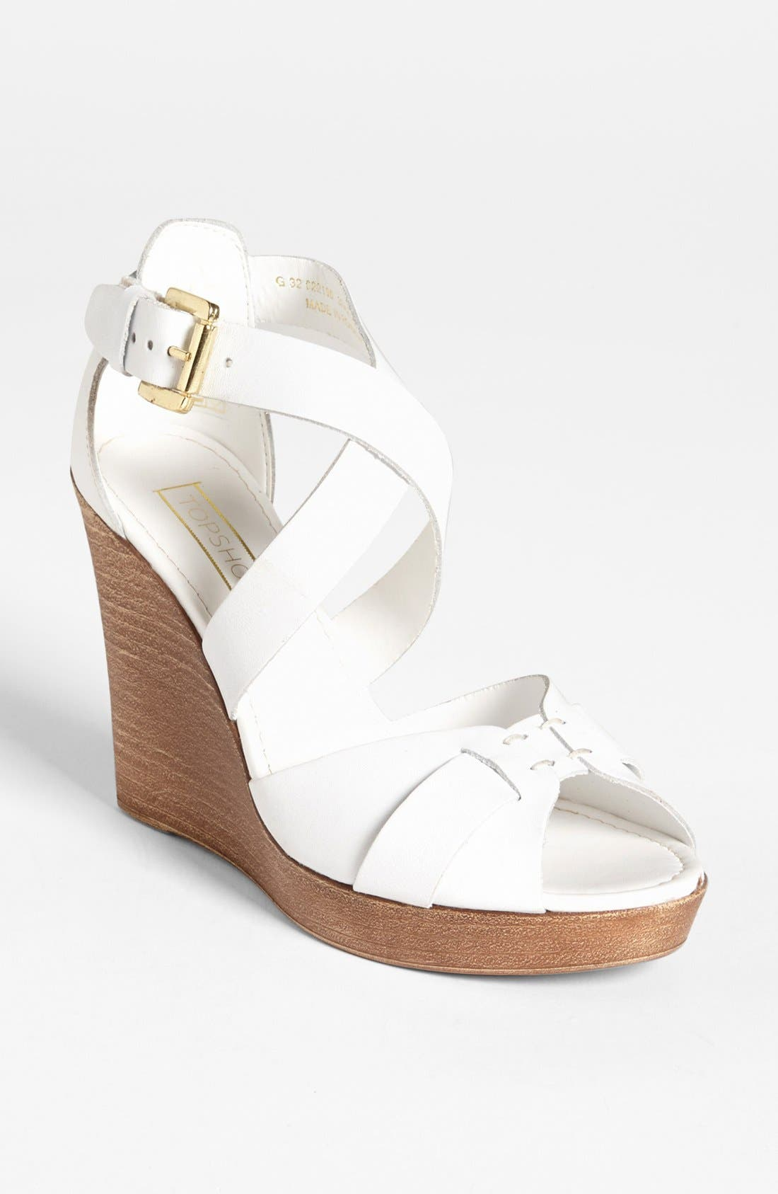 Alternate Image 1 Selected - Topshop 'Whippie' Wedge Sandal