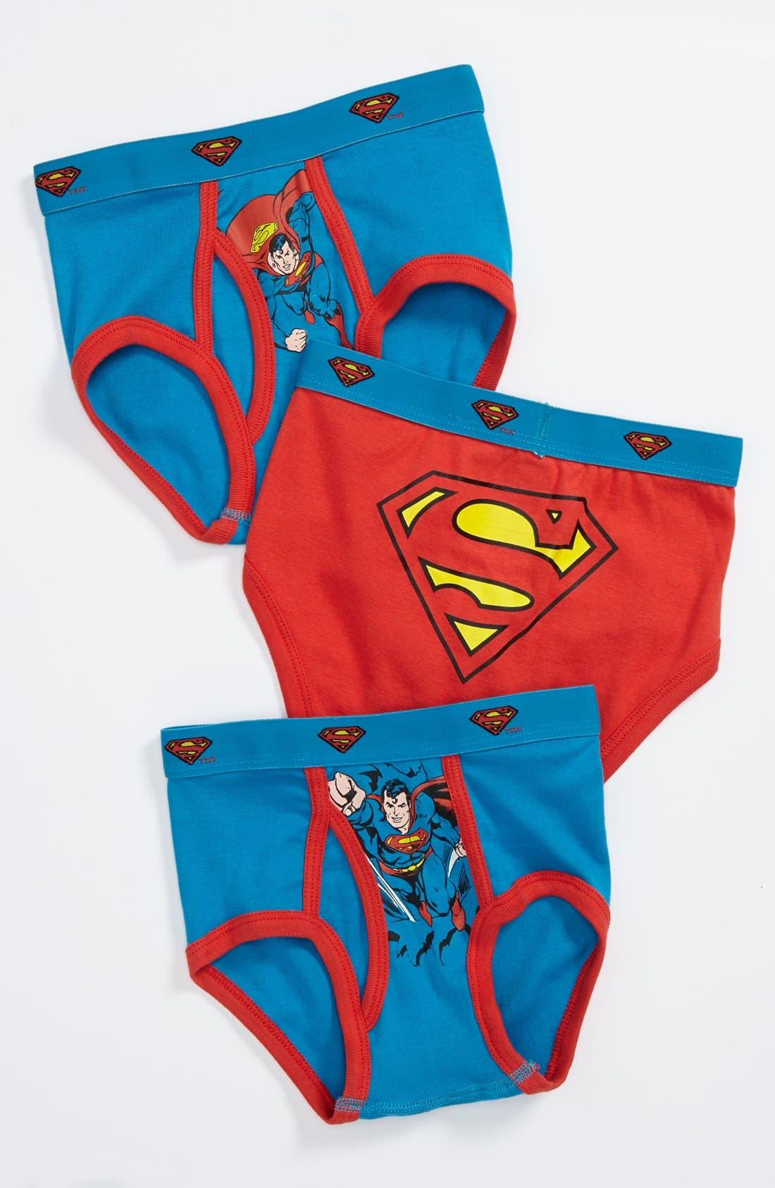 Main Image - Intimo 'Superman' Briefs (3-Pack) (Toddler Boys, Little Boys & Big Boys)