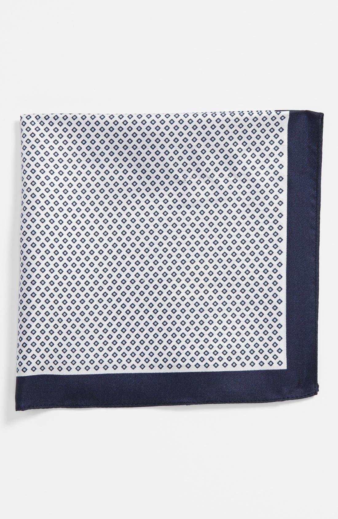 Alternate Image 1 Selected - BOSS Black Silk Pocket Square