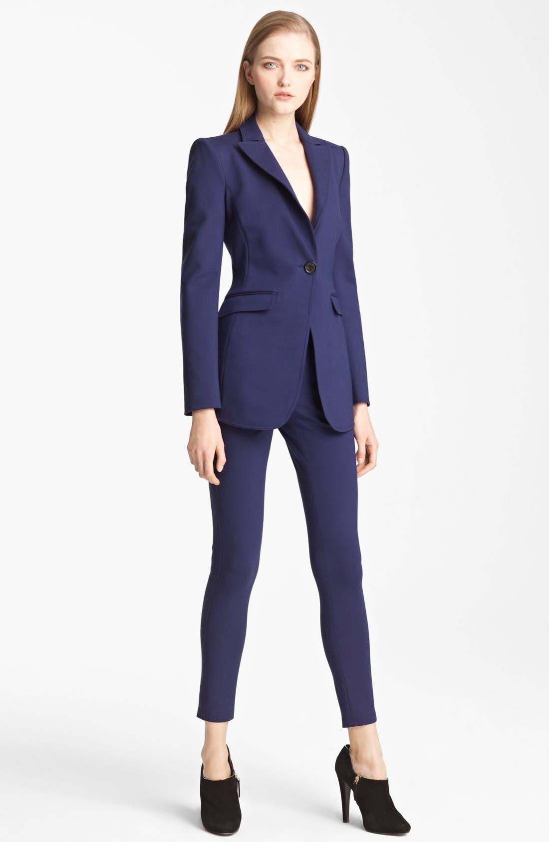 Alternate Image 2  - Armani Collezioni Long Milano Jersey Jacket