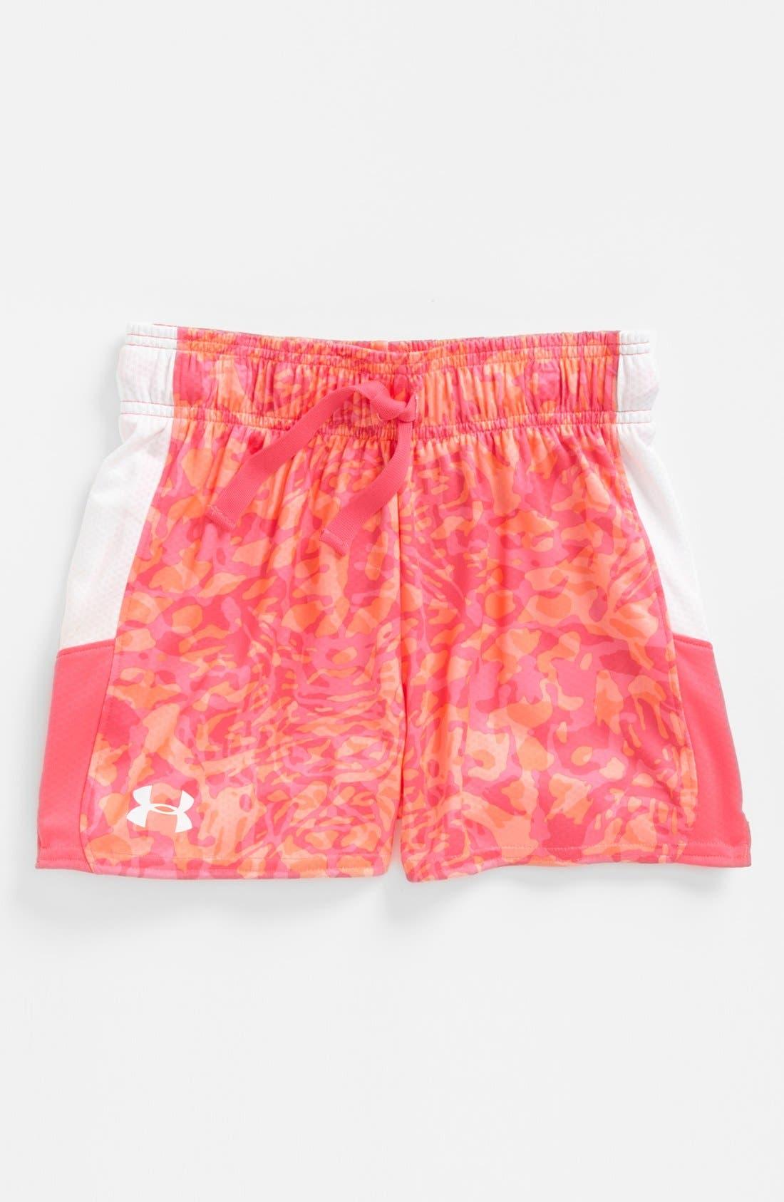 Alternate Image 1 Selected - Under Armour 'Intensity' HeatGear® Shorts (Little Girls & Big Girls)