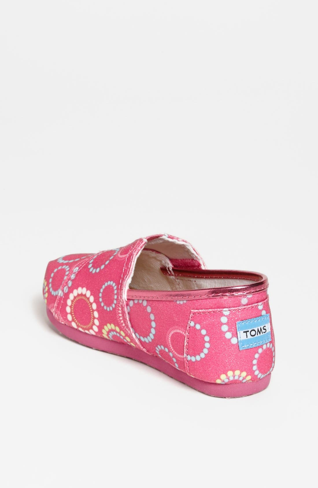 Alternate Image 2  - TOMS 'Classic Tiny - Circles Glitter' Slip-On (Baby, Walker & Toddler)