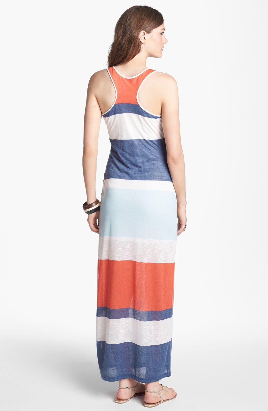 Alternate Image 2  - Soprano Stripe Racerback Maxi Dress (Juniors)