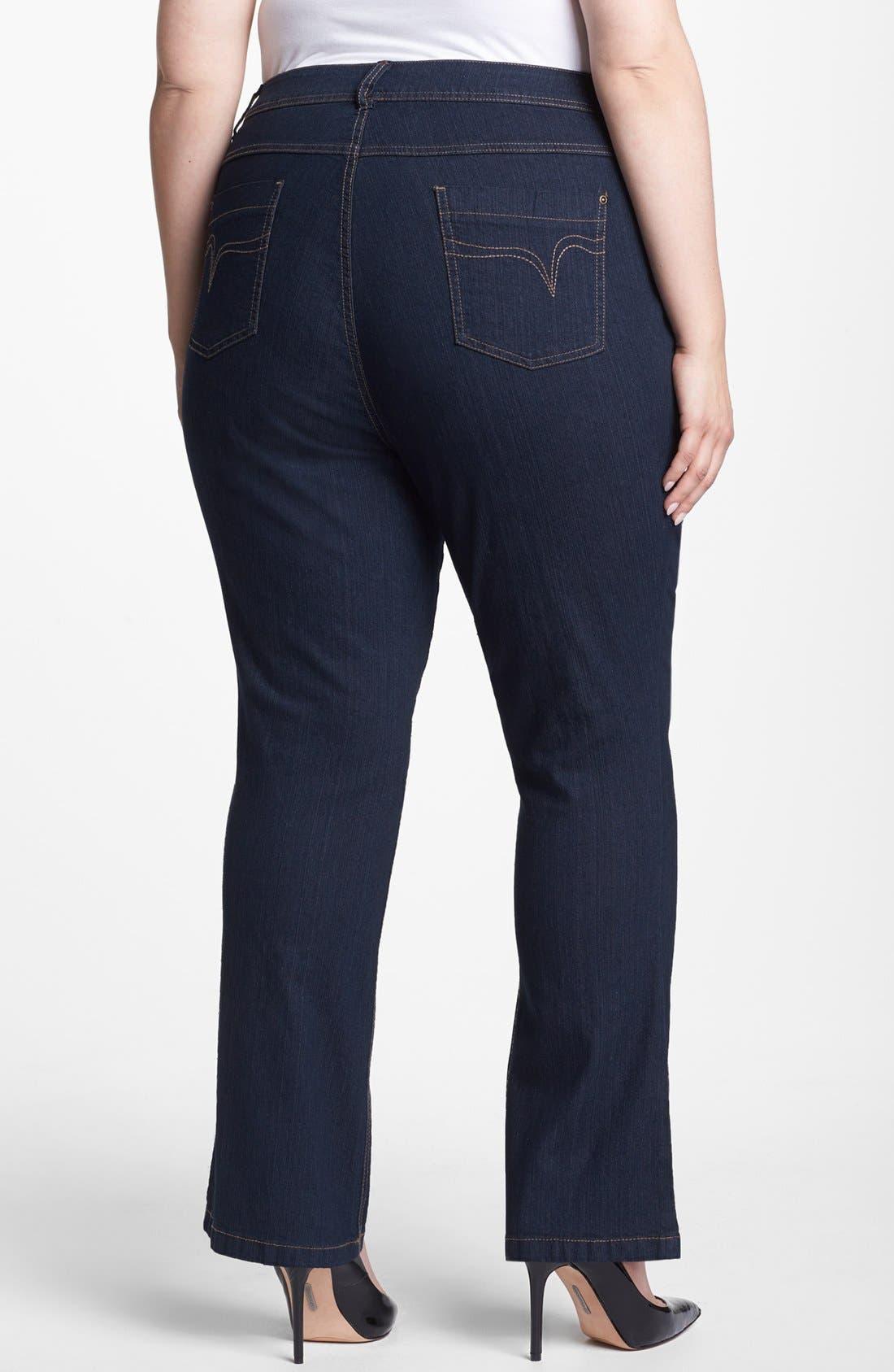 Alternate Image 2  - Evans Bootcut Jeans (Plus Size)