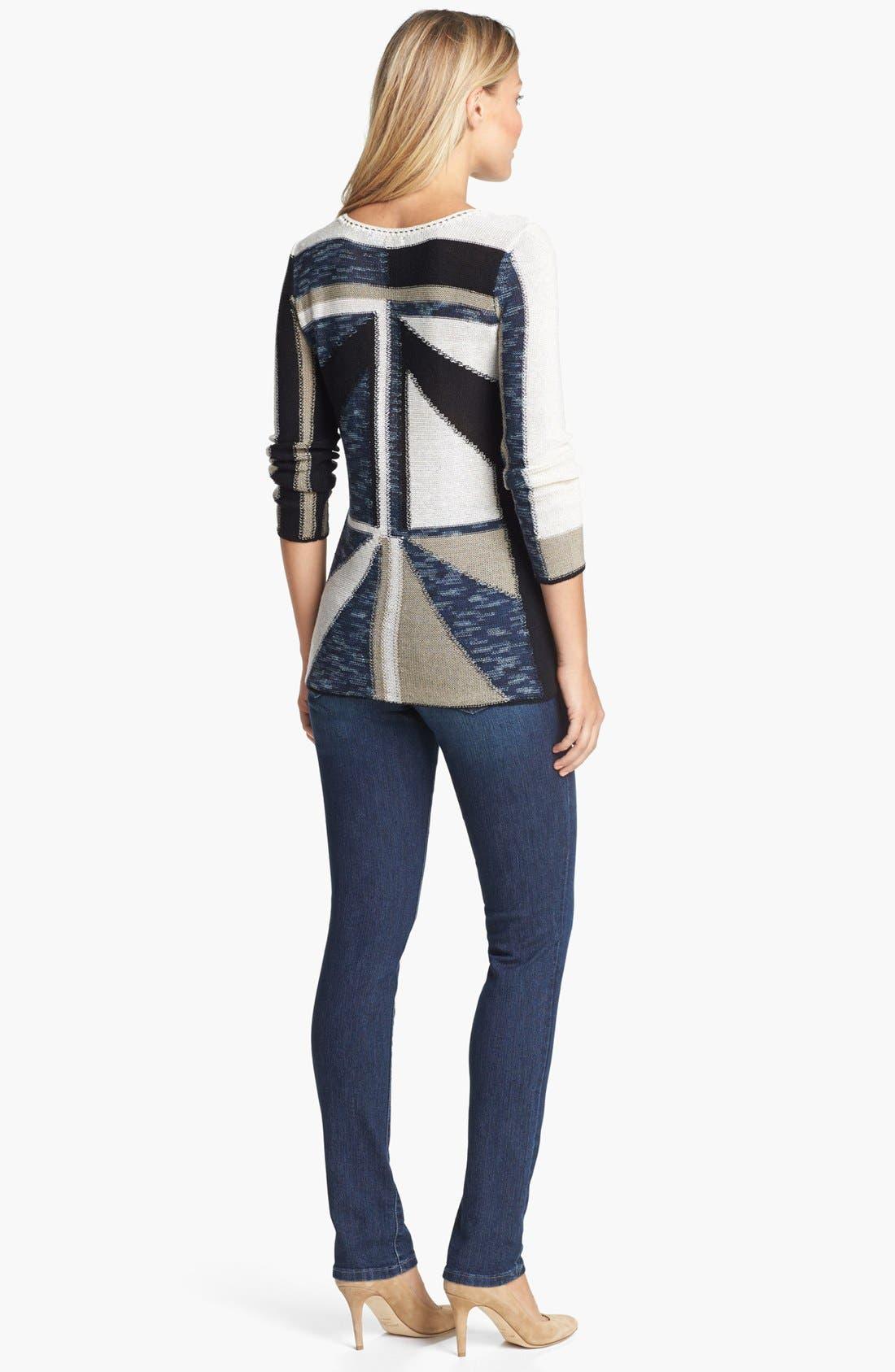 Alternate Image 4  - NIC+ZOE 'Triangle' Sweater