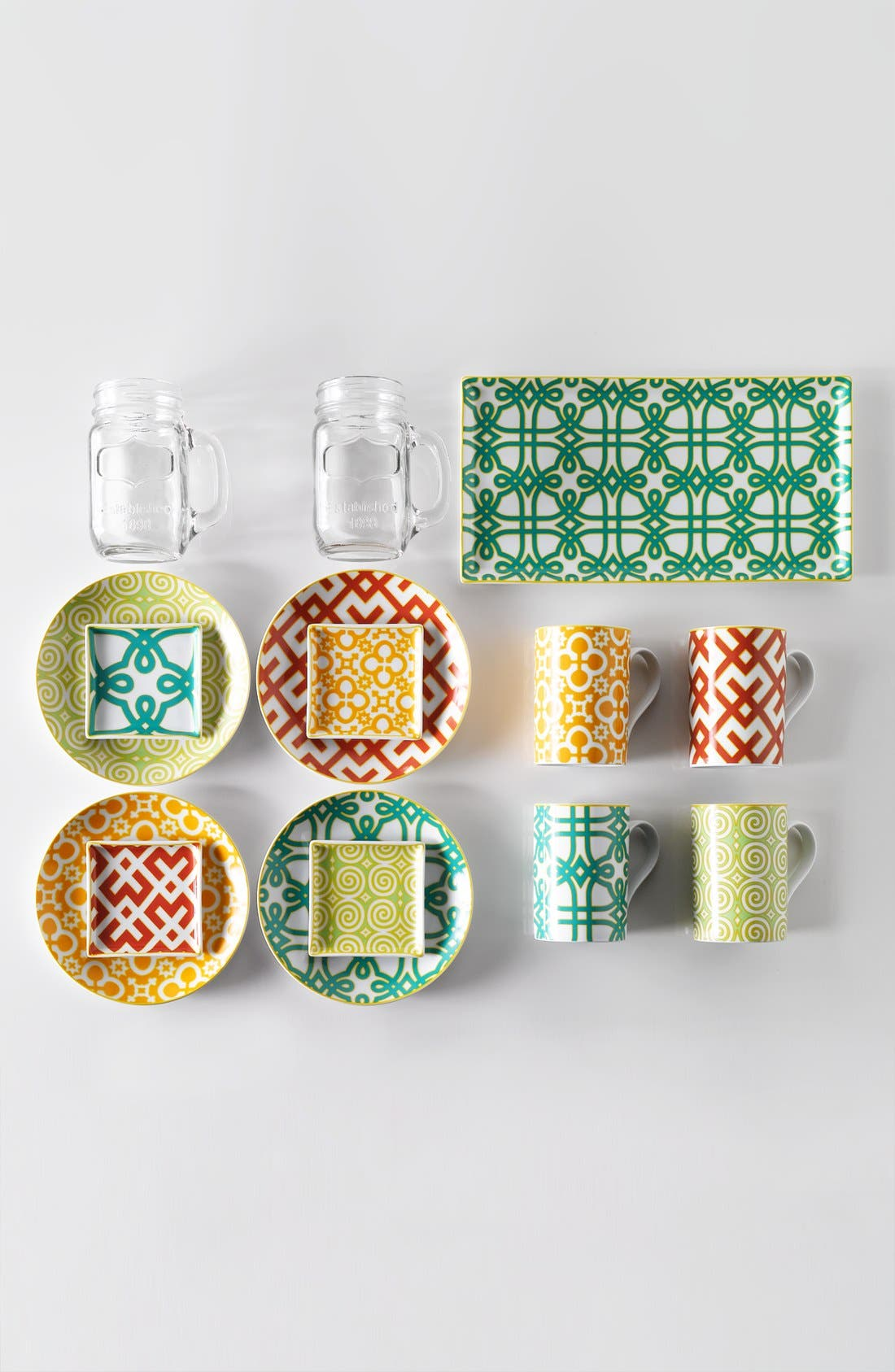 Alternate Image 3  - Glass Mason Jar Mugs (Set of 4)