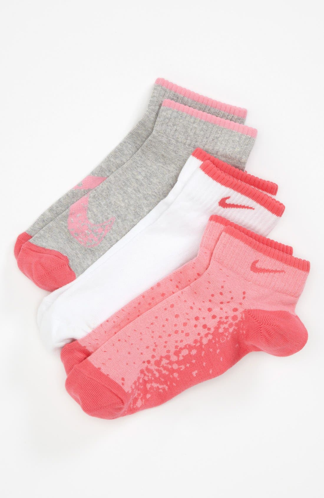 Main Image - Nike 'Graphic' Low Cut Socks (3-Pack) (Big Girls) (Online Only)